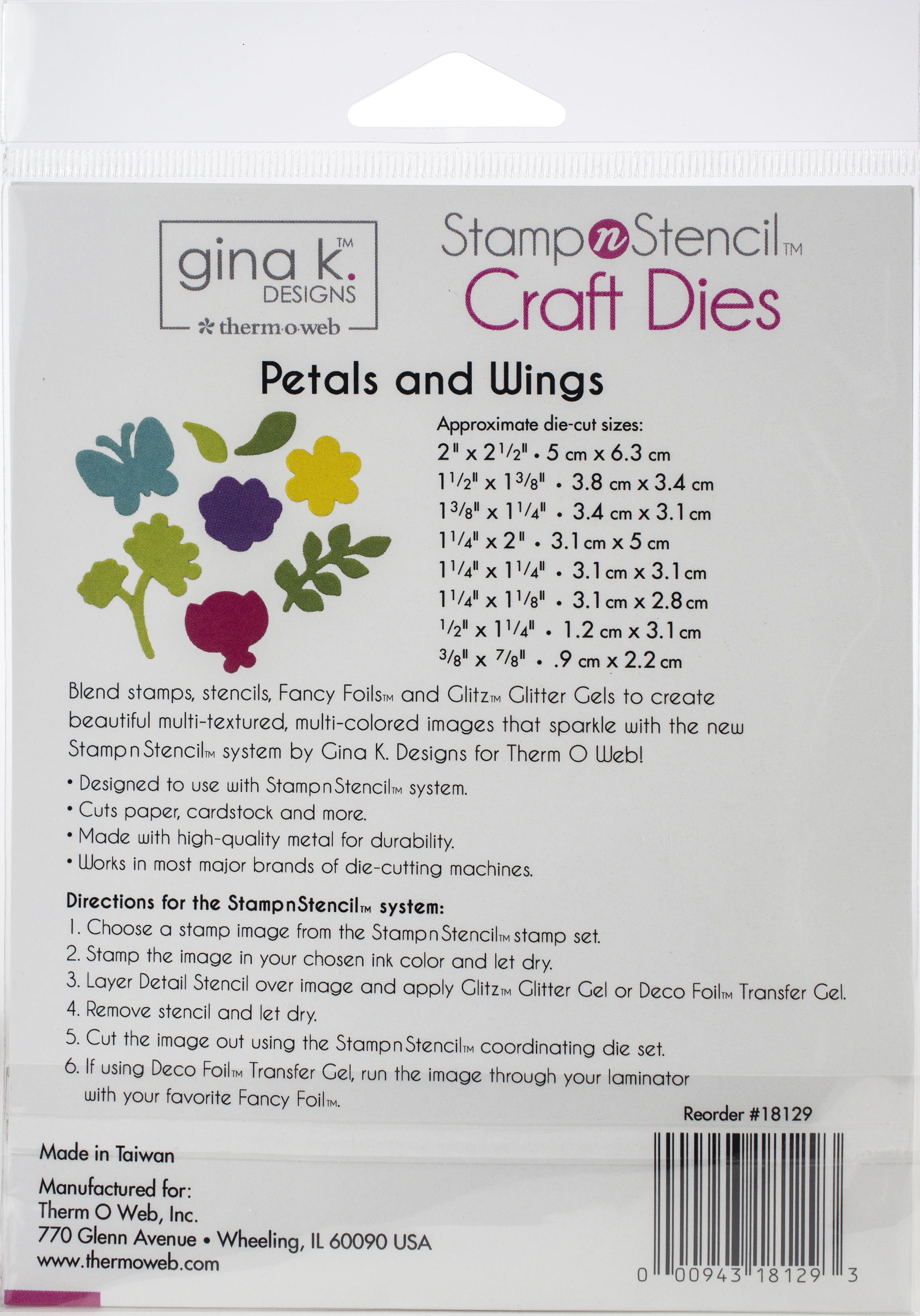 Gina K Designs Dies-Petals & Wings