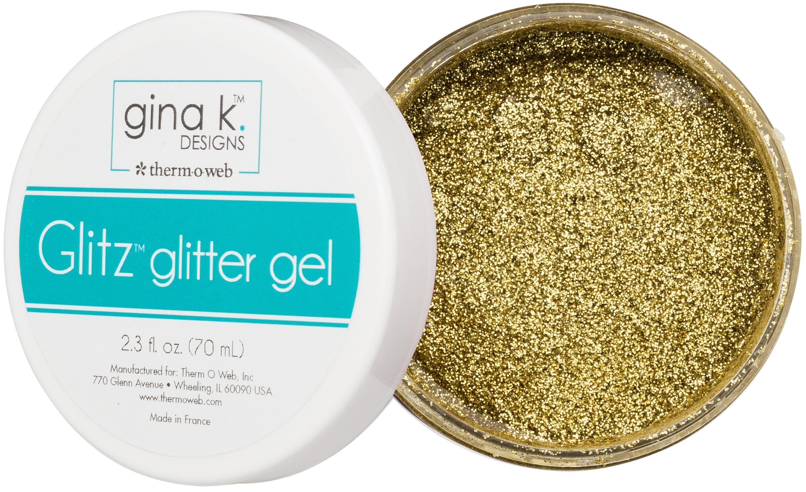 Glitz Glitter Gel 2.3oz Gold
