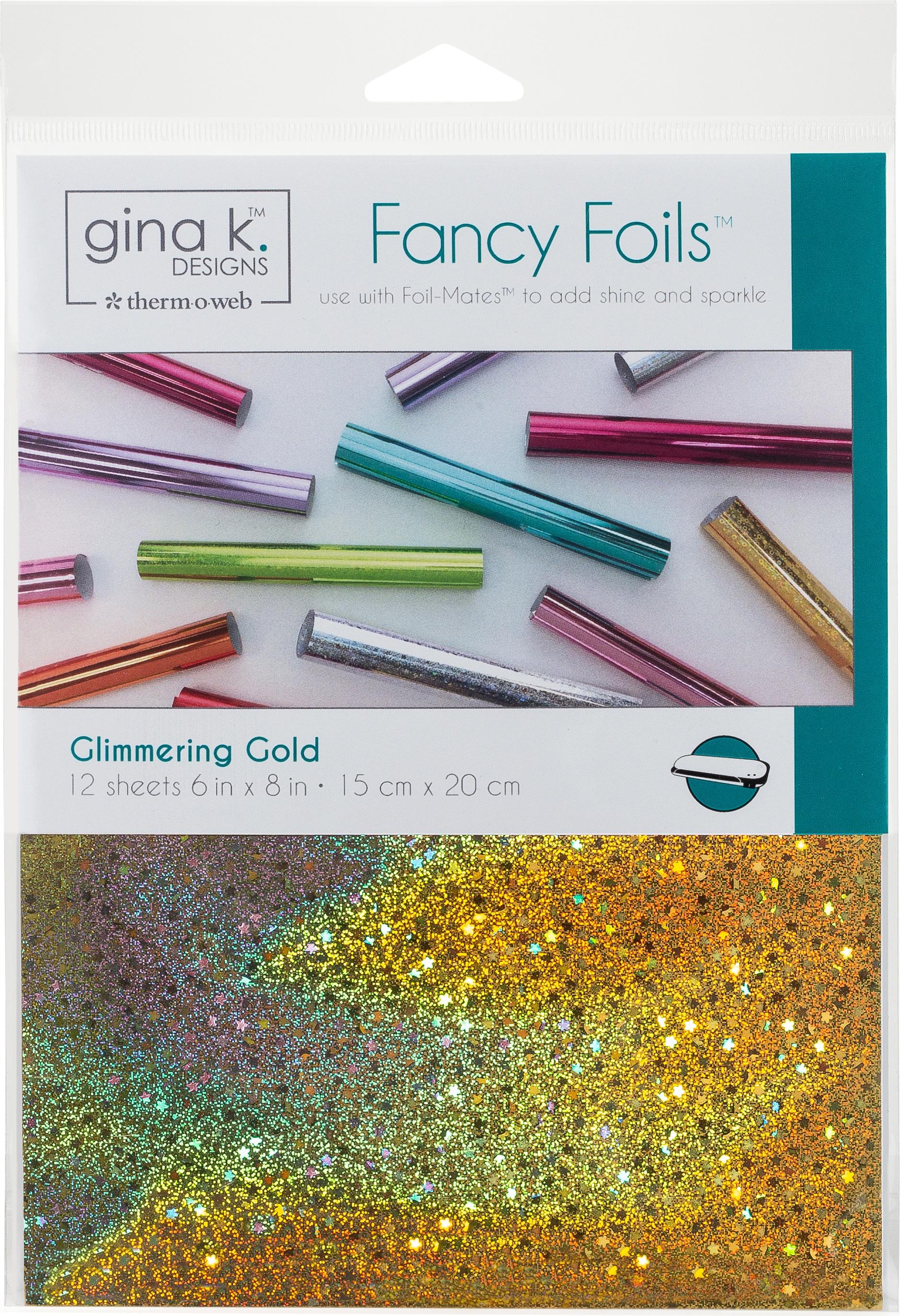 Gina K Designs Fancy Foil 6X8 12/Pkg-Glimmering Gold