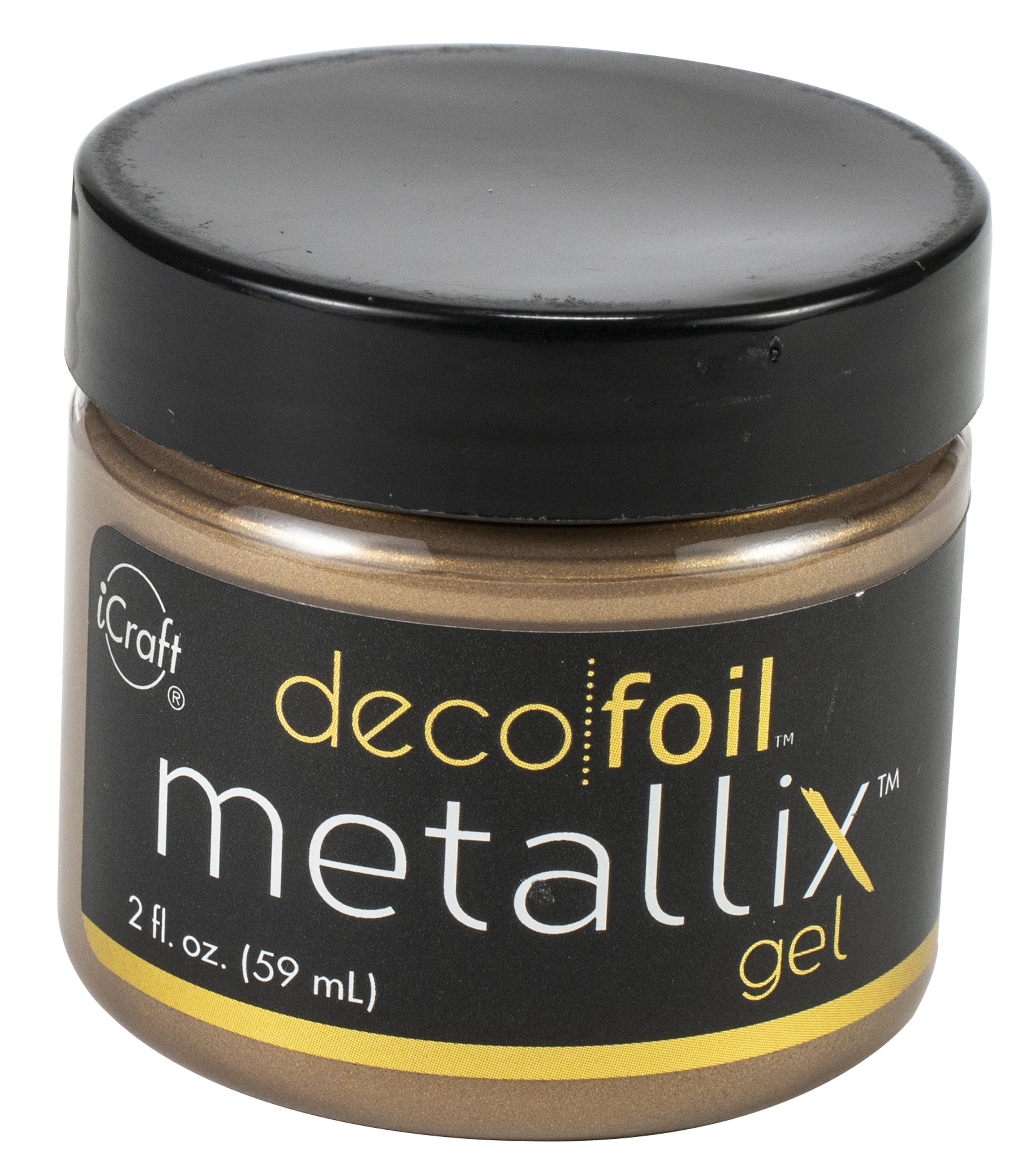 Deco Foil Metallix Gel 2oz-Aged Copper