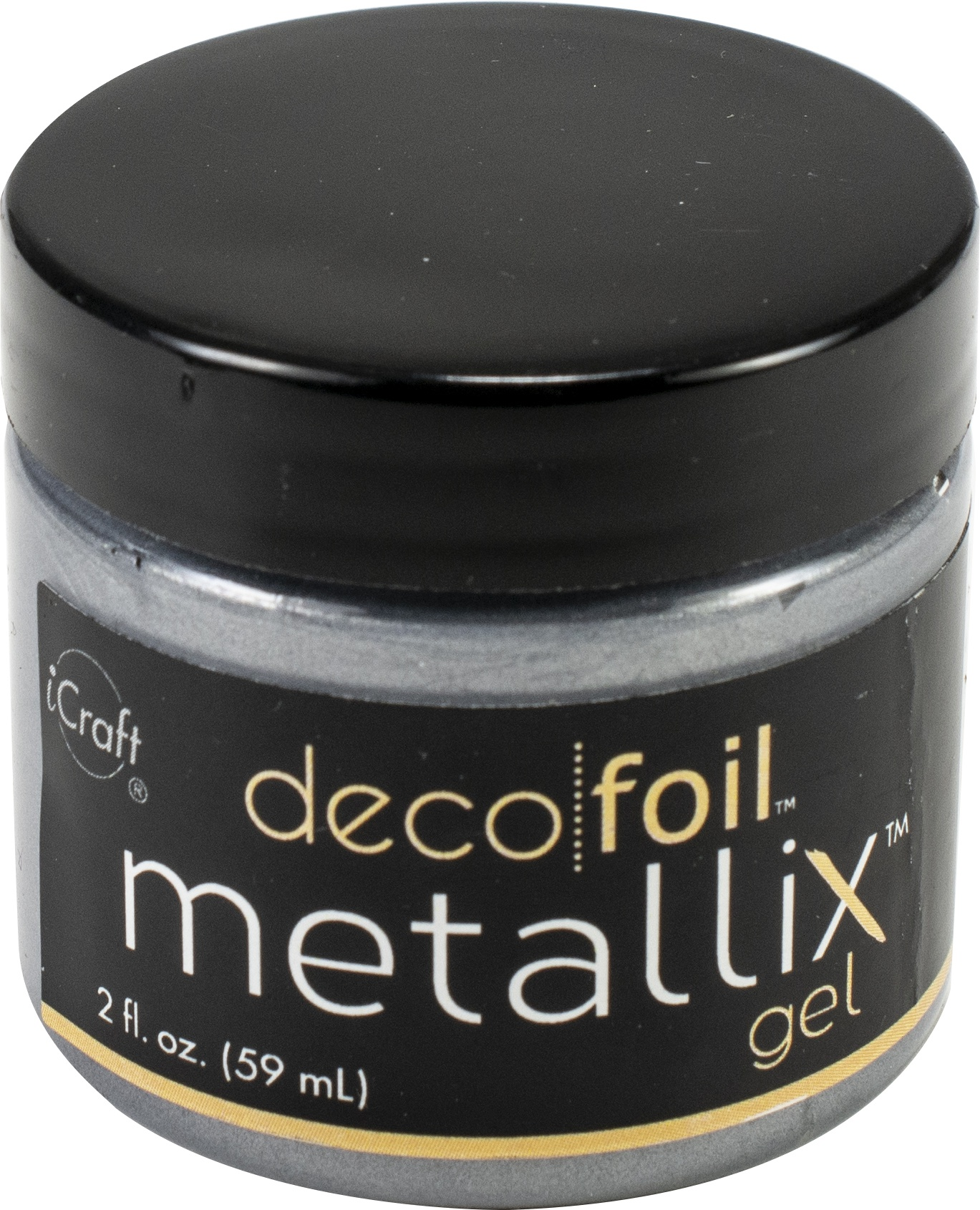 Deco Foil Metallix Gel 2oz-Glazed Pewter