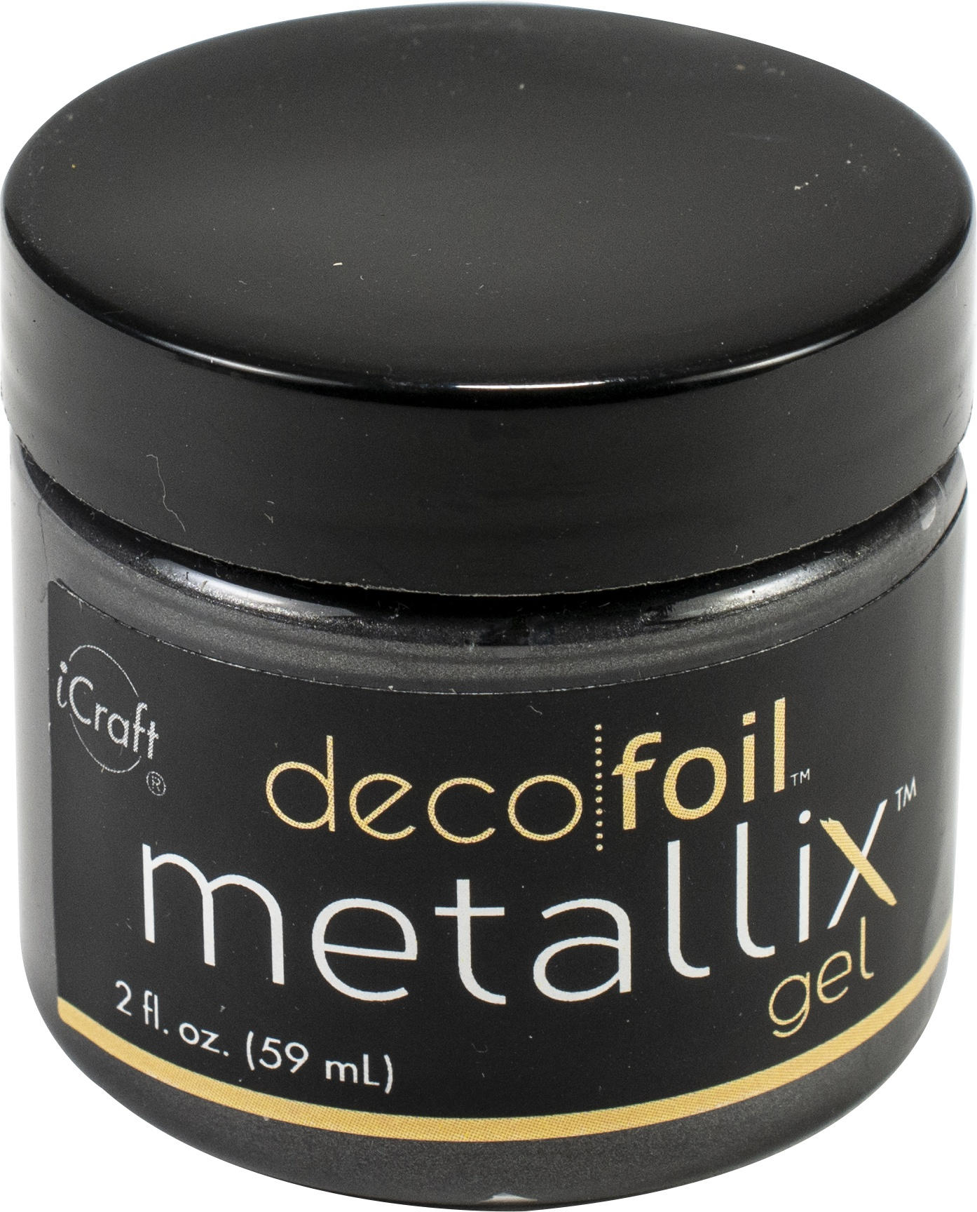 Deco Foil Metallix Gel 2oz-Black Ice