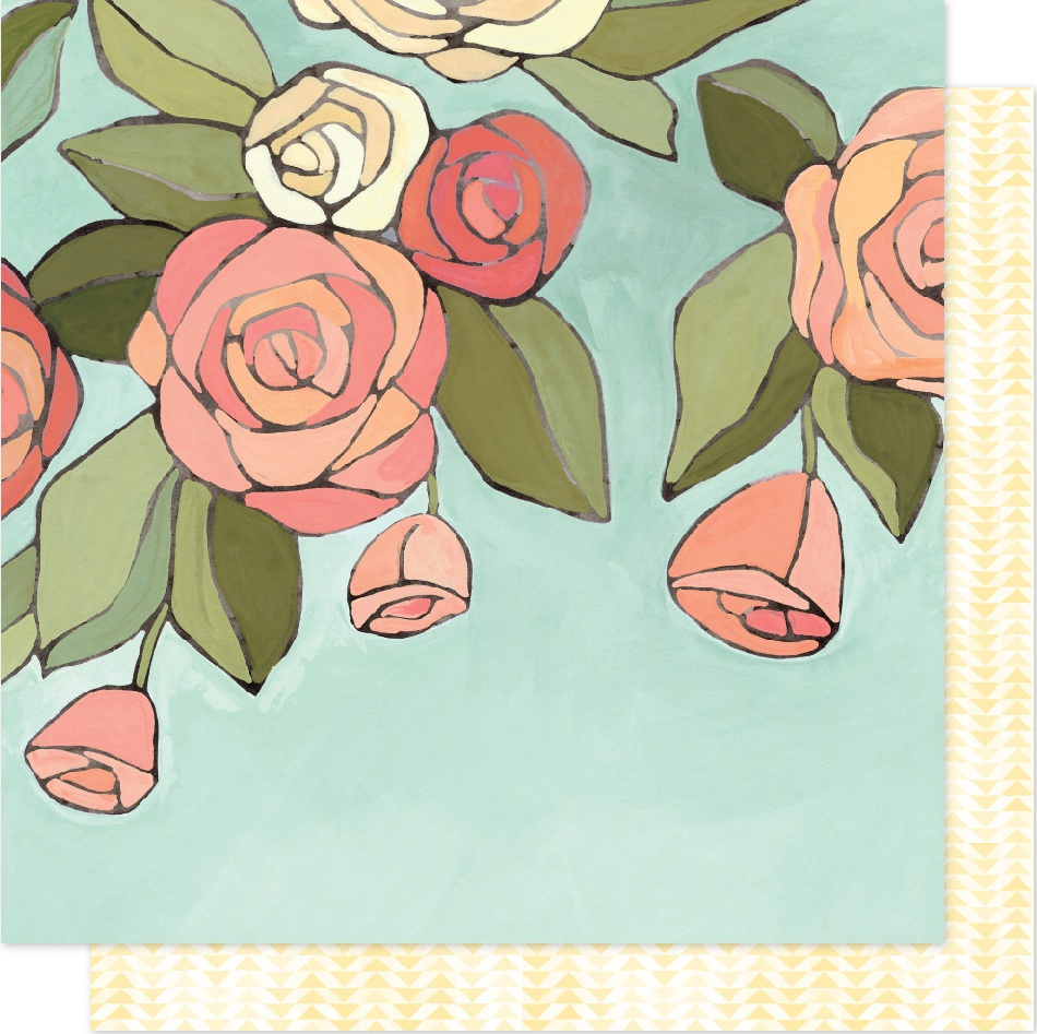 One Canoe Two Saturday Afternoon Dbl-Sided Cardstock 12X12-Afternoon Roses