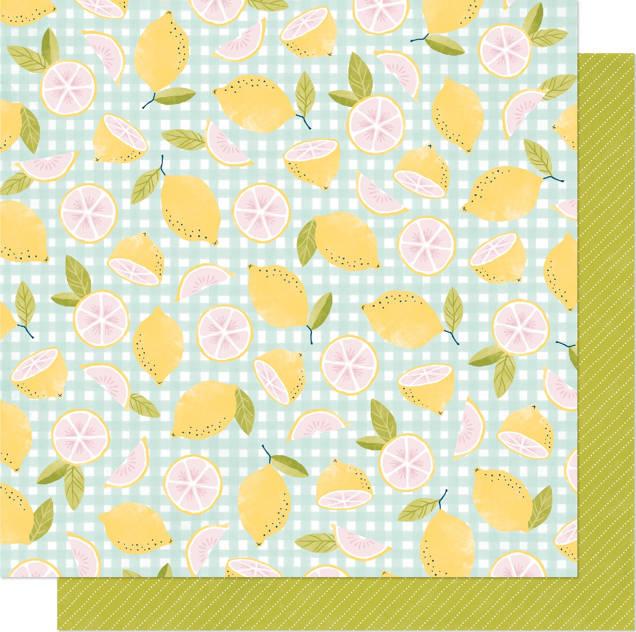 Dear Lizzy It's All Good Double-Sided Cardstock 12X12-Pink Lemonade