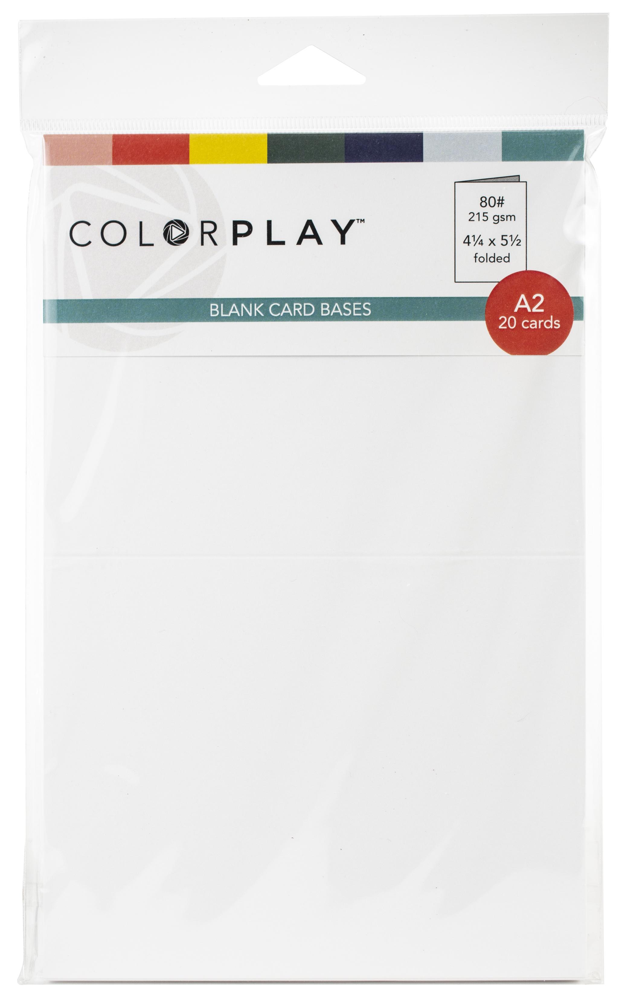 PhotoPlay A2 Card Bases 20/Pkg-4.25X5.5 Folded