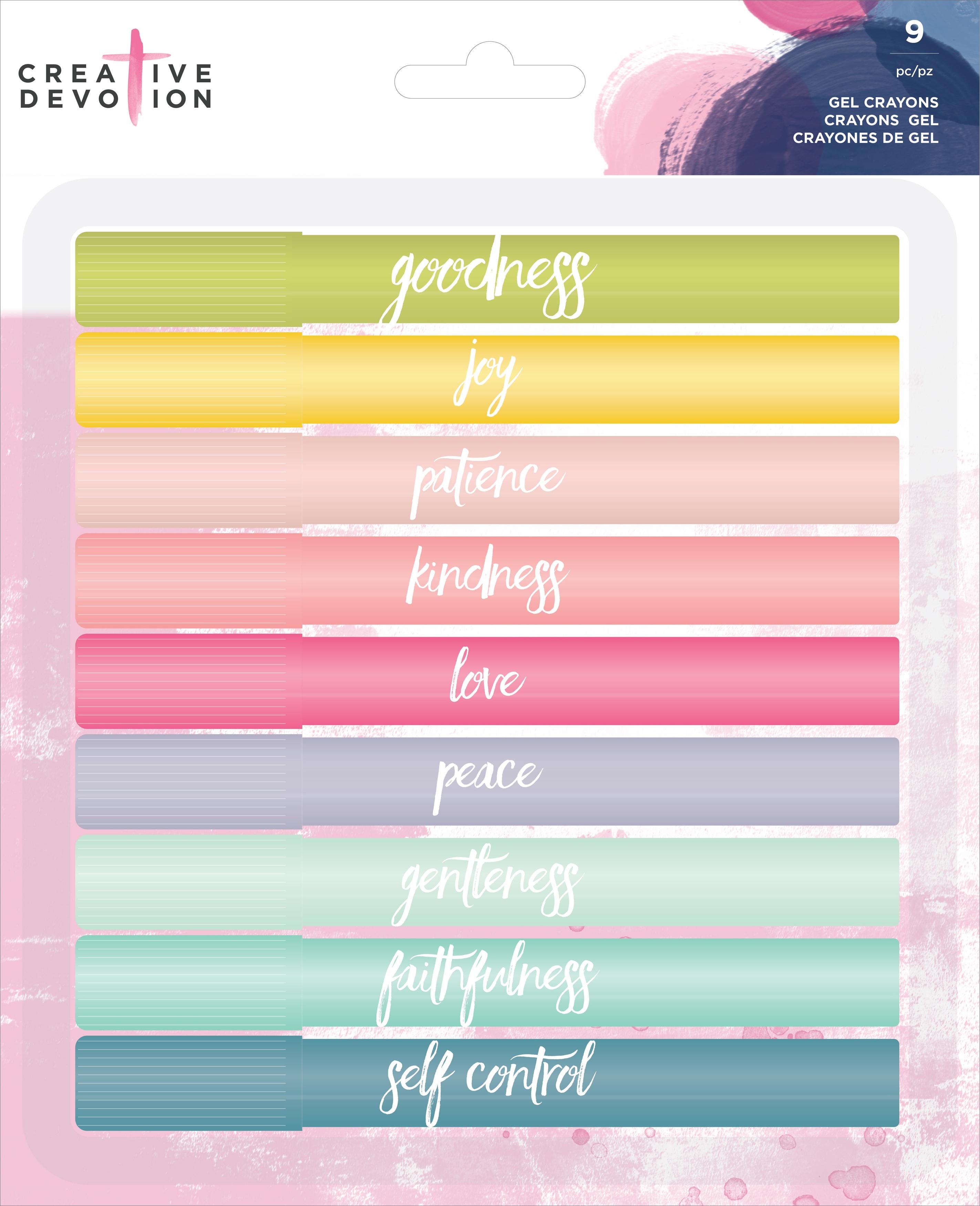 Creative Devotion Gel Crayons 9/Pkg-Assorted Colors