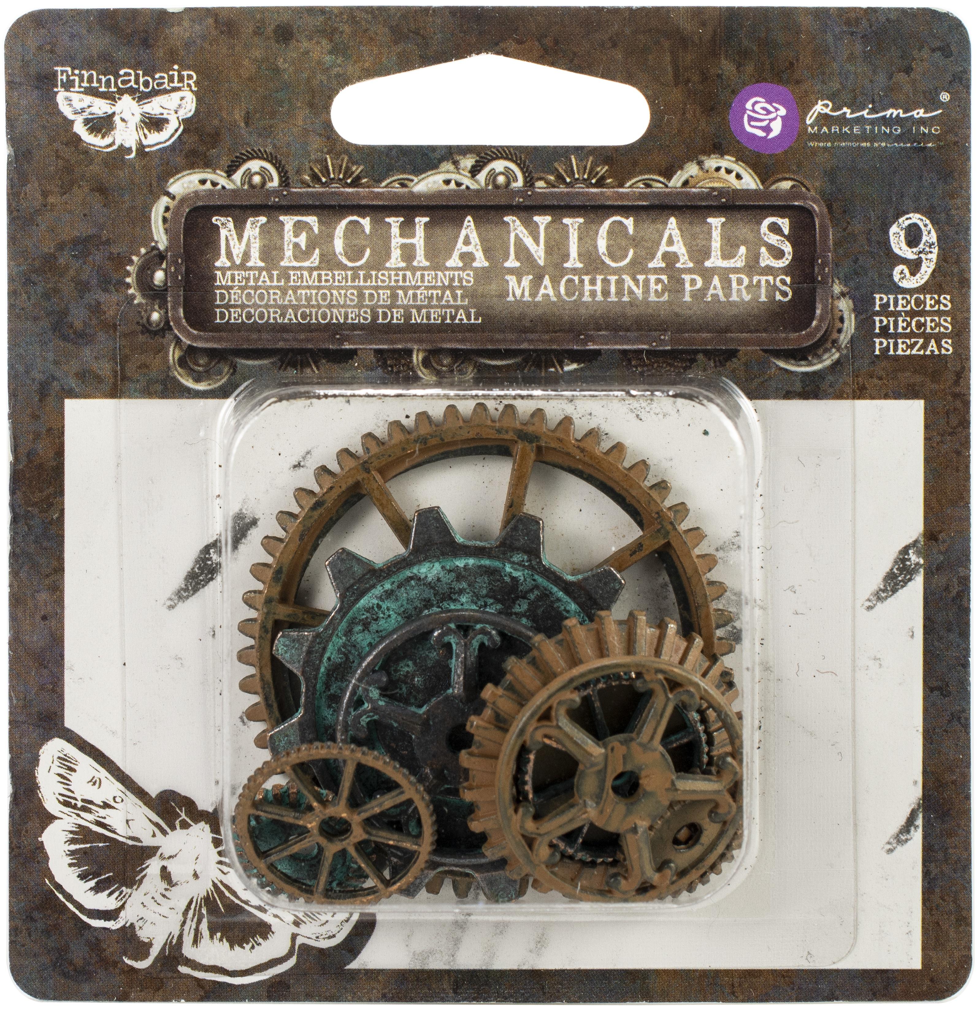 Finnabair Mechanicals Metal -Machine Parts 9/Pkg