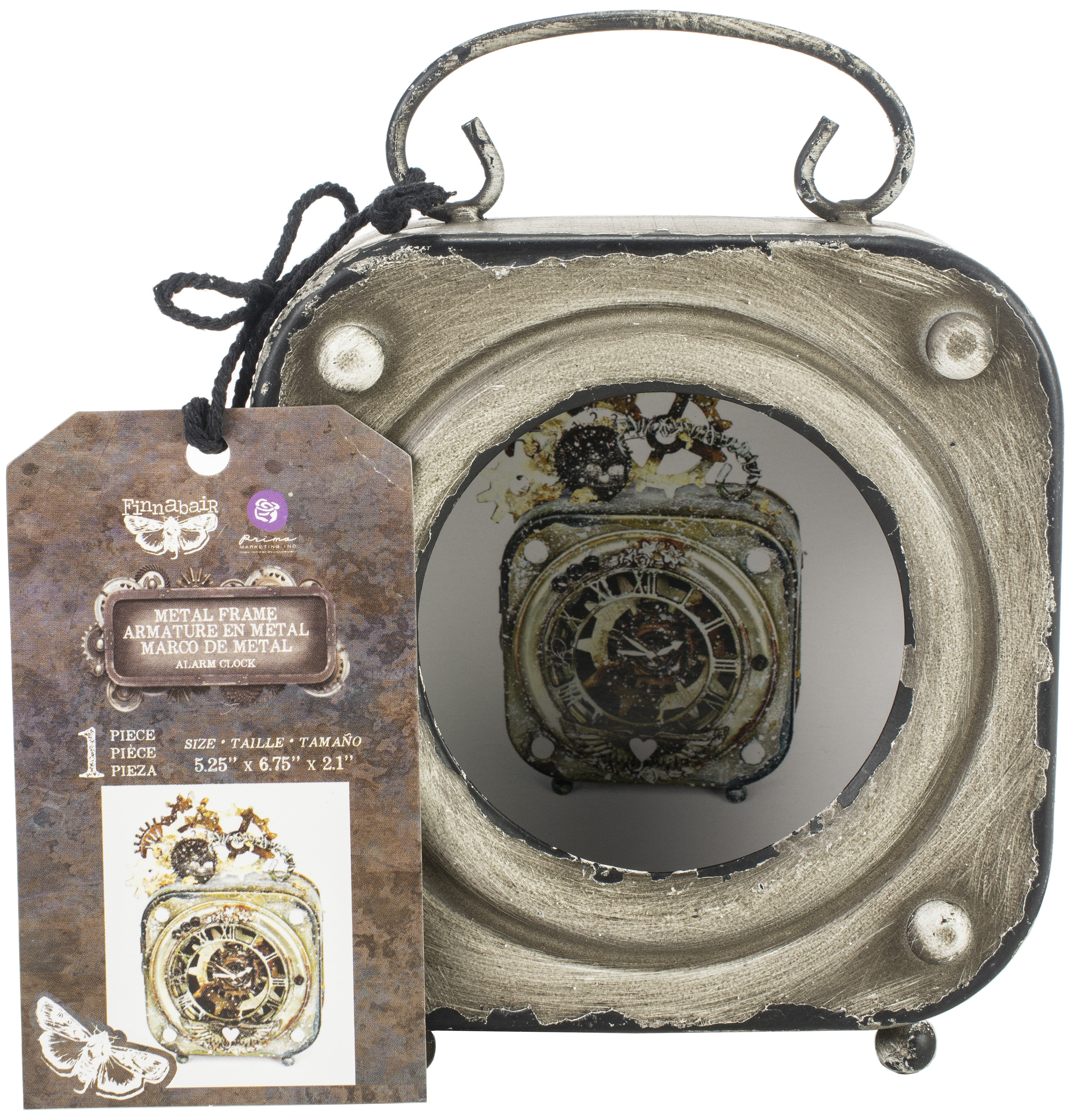 Prima Marketing Altered Metal Frame-Alarm Clock
