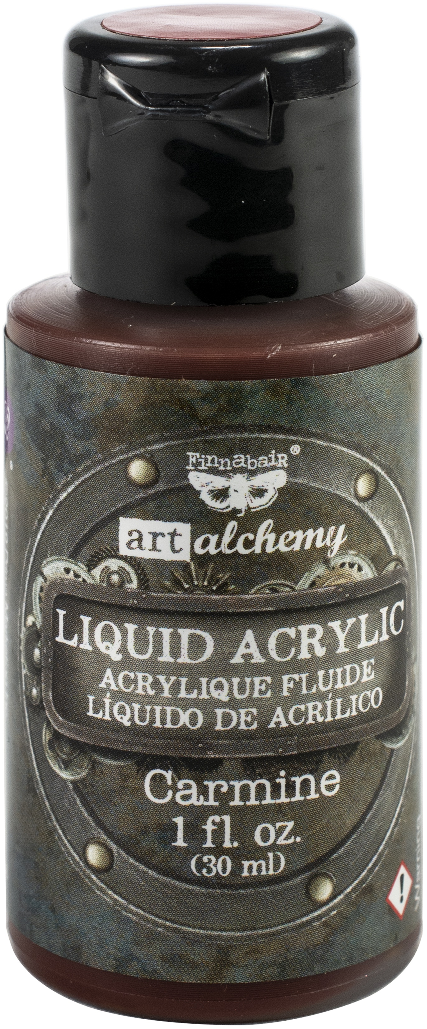 Finnabair Art Alchemy Liquid Acrylic Paint 1 Fluid Ounce-Carmine