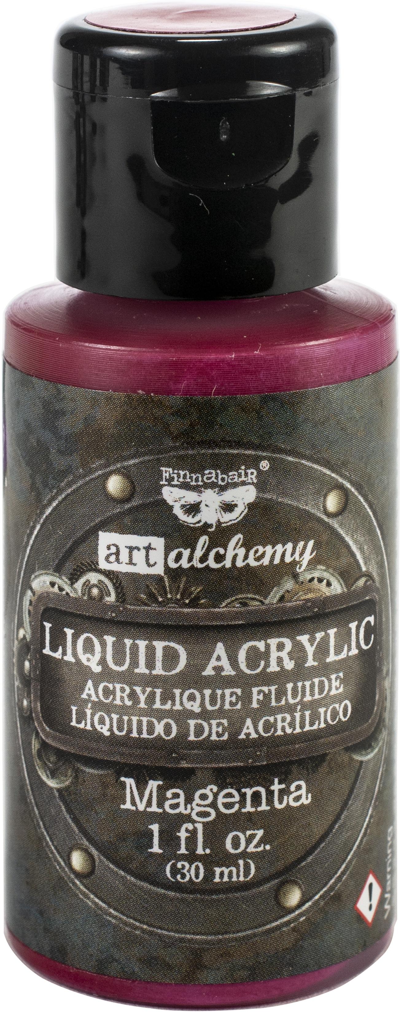 Finnabair Art Alchemy Liquid Acrylic Paint 1 Fluid Ounce-Magenta