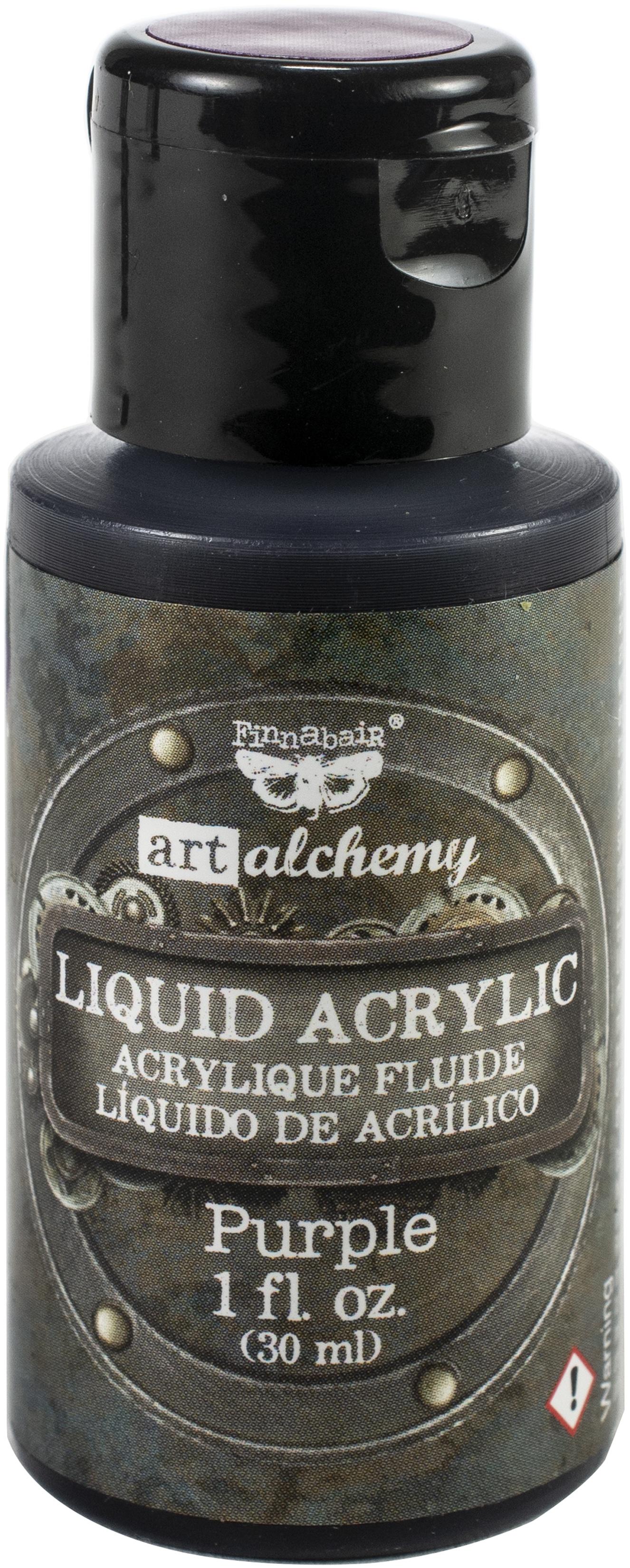 Finnabair Art Alchemy Liquid Acrylic Paint 1 Fluid Ounce-Purple