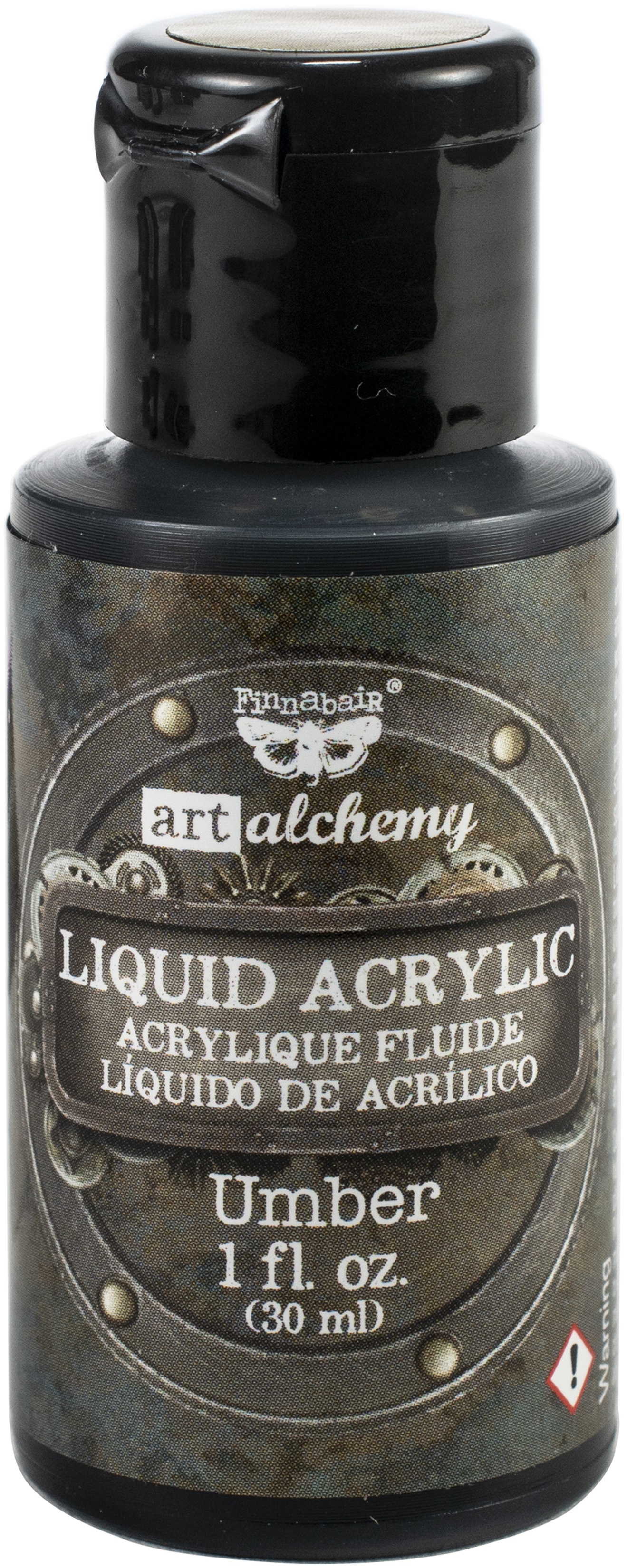 Finnabair Art Alchemy Liquid Acrylic Paint 1 Oz-Umber