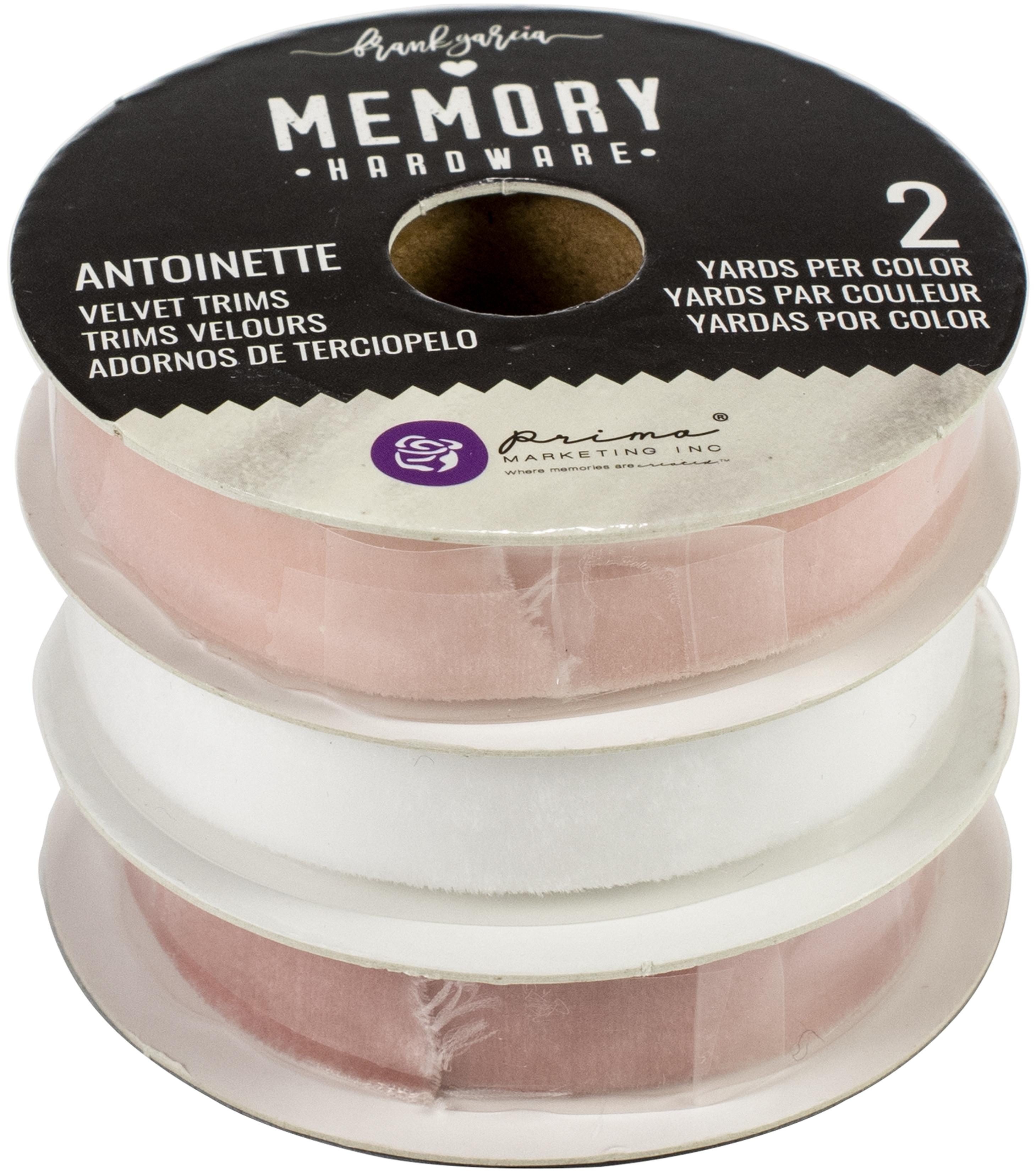 Prima Marketing Memory Hardware Antoinette Velvet Trim 3/Pkg-2 Yards Each