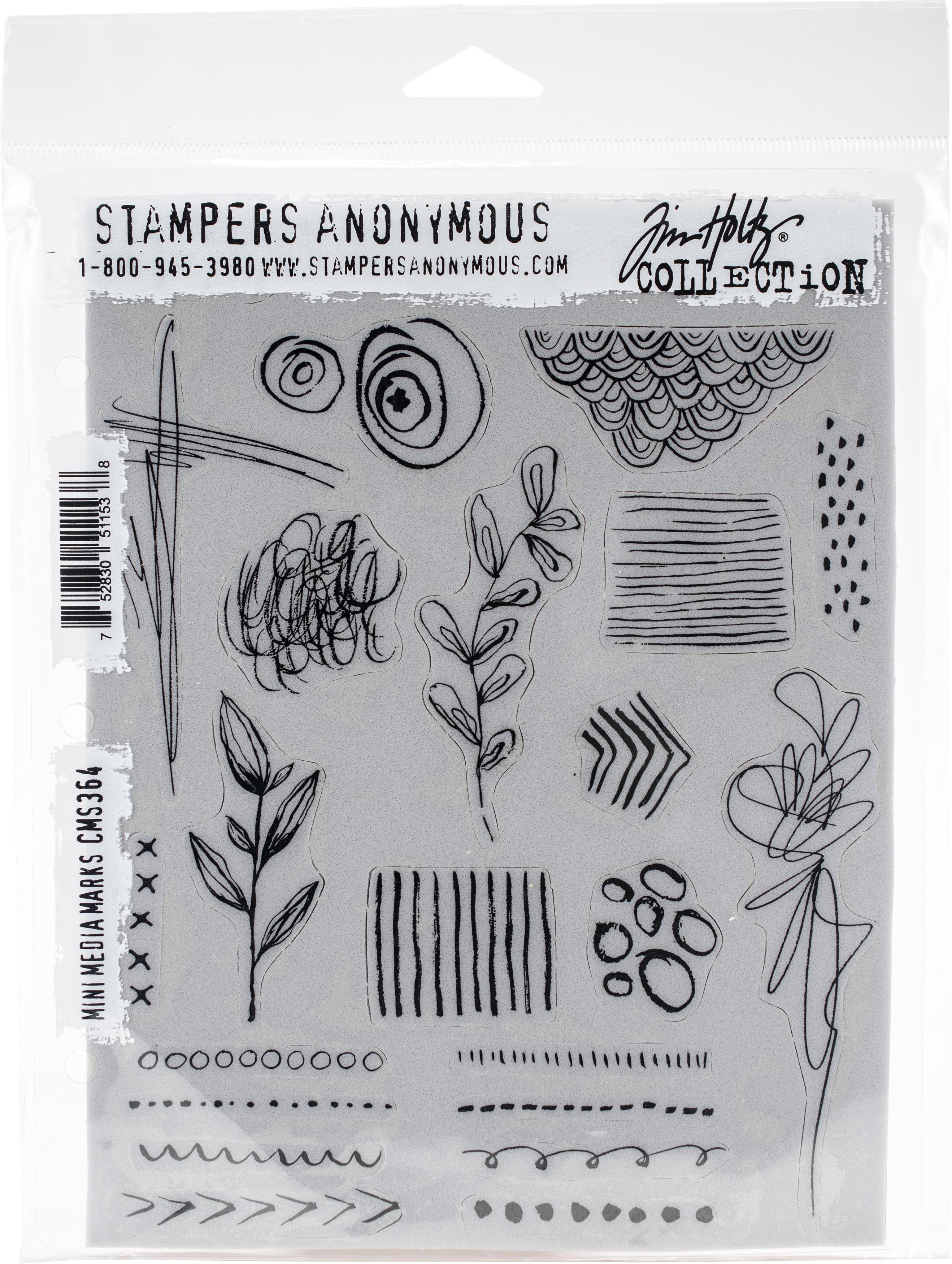 Tim Holtz - Mini Media Marks Cling Stamp