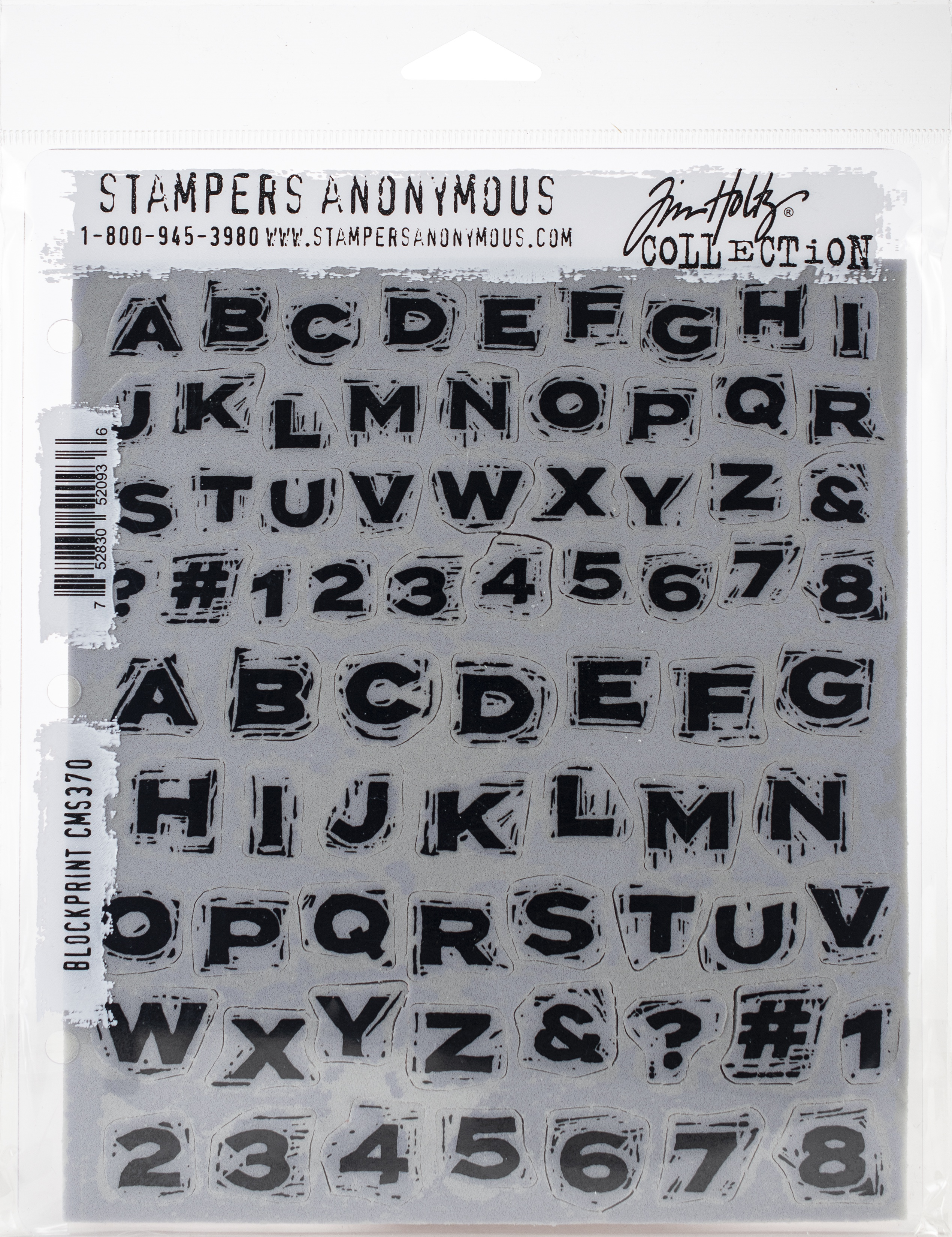 Tim Holtz Cling Stamps 7X8.5-Blockprint