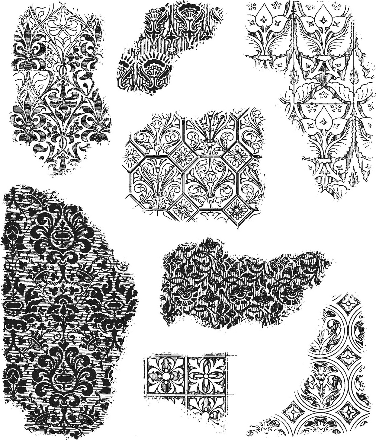 Tim Holtz Cling Stamps 7X8.5-Fragments
