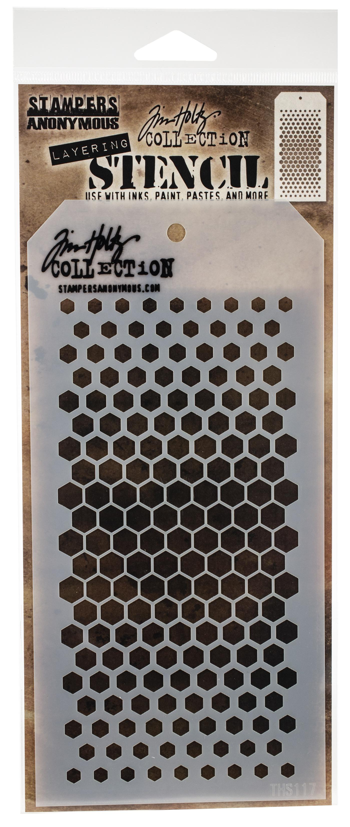 Tim Holtz Layered Stencil 4.125X8.5-Gradient Hex