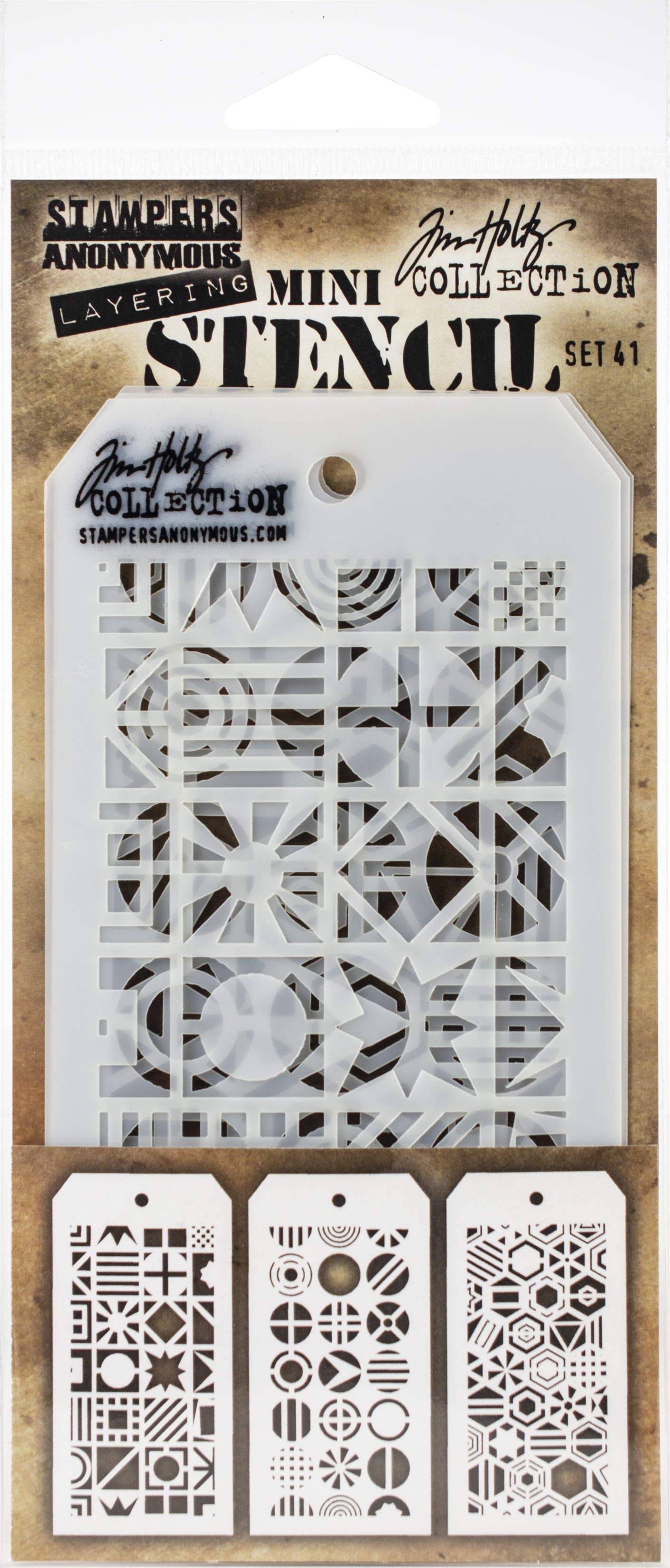 Tim Holtz Mini Layered Stencil Set 3/Pkg-Set #41