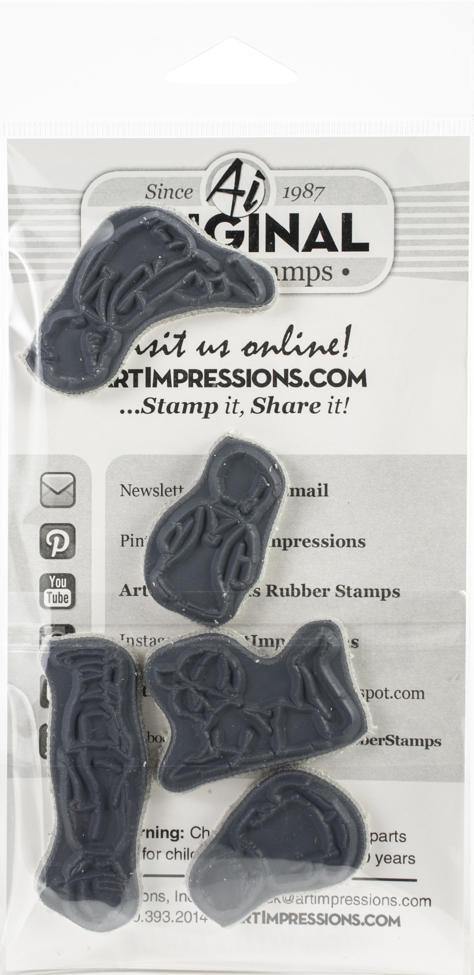 Art Impressions Watercolor Cling Rubber Stamps-Little Boys