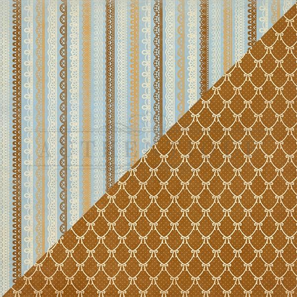 Abundant Double-Sided Cardstock 12X12-#2 Multi Lace Stripe
