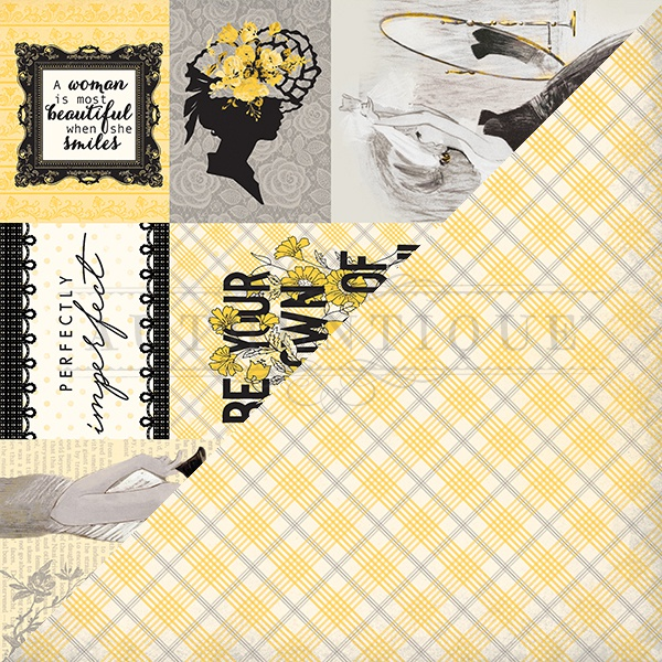 Poised Double-Sided Cardstock 12X12-#6 Cut-Apart Images & Sentiments