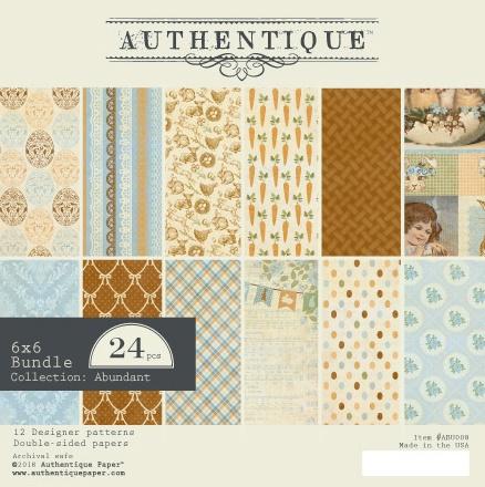 Authentique Double-Sided Cardstock Pad 6X6 24/Pkg-Abundant, 6 Designs/4 Each