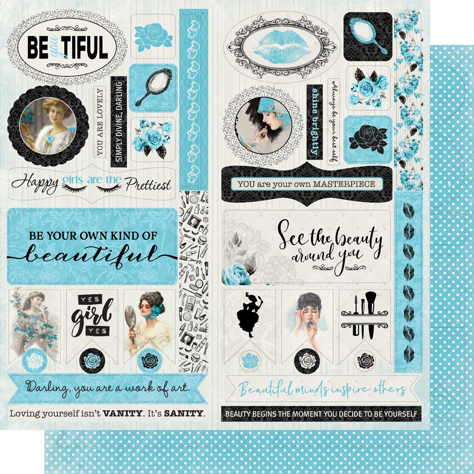 Glamour Double-Sided Cardstock Die-Cut Sheet 12X12-Accents