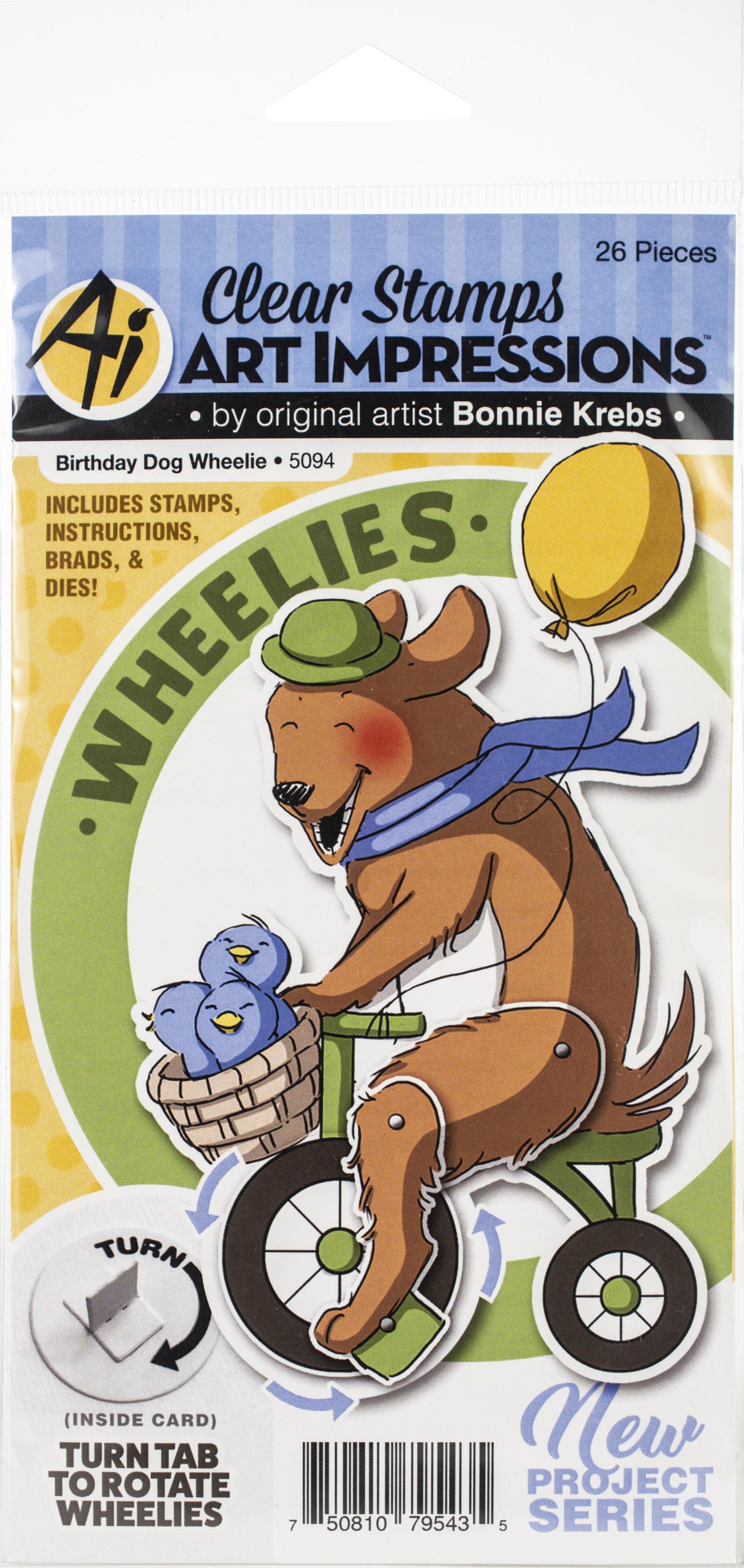Birthday Wheelie Dog
