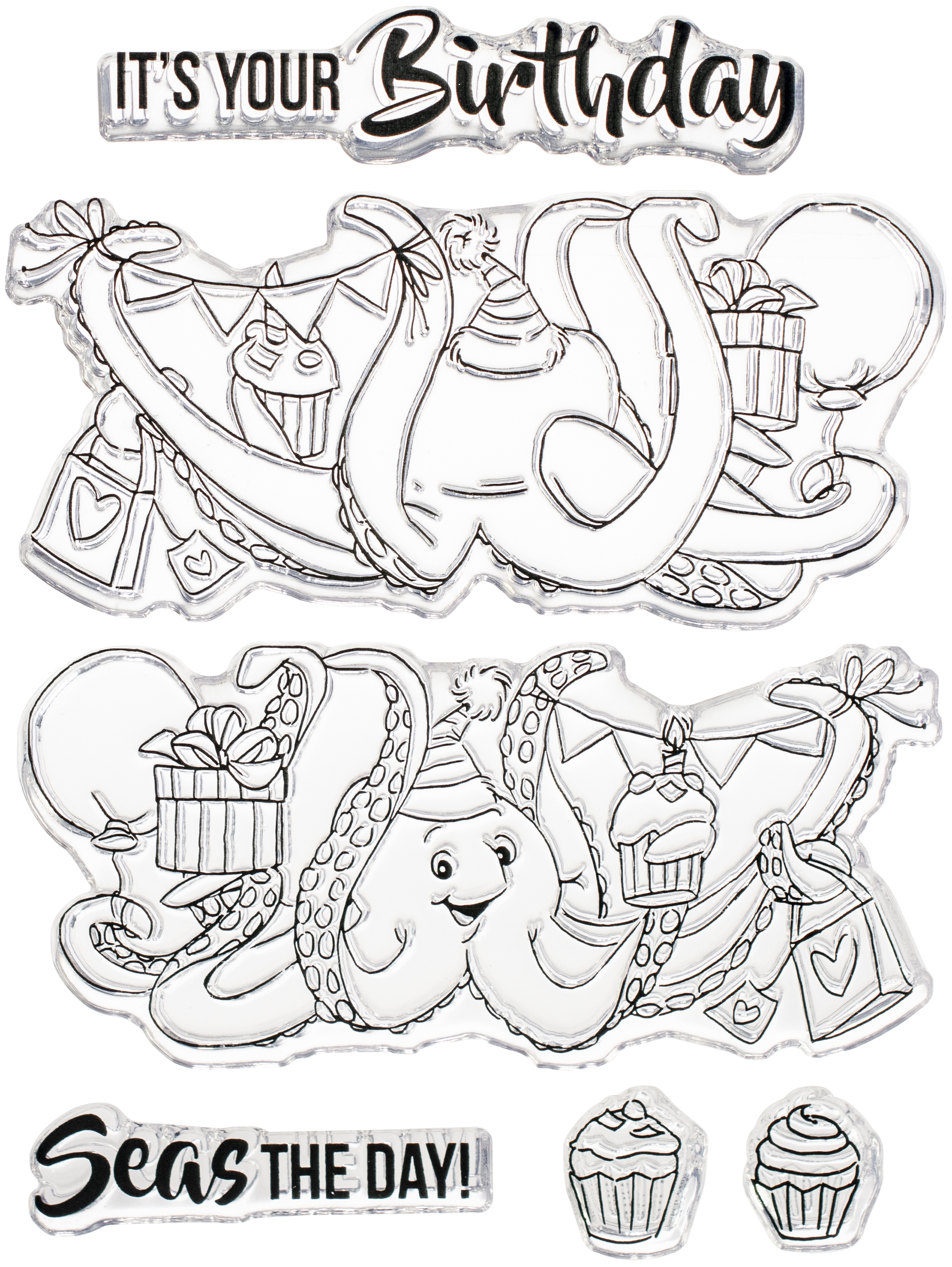Art Impressions Flip Card Clear Stamp-Octopus