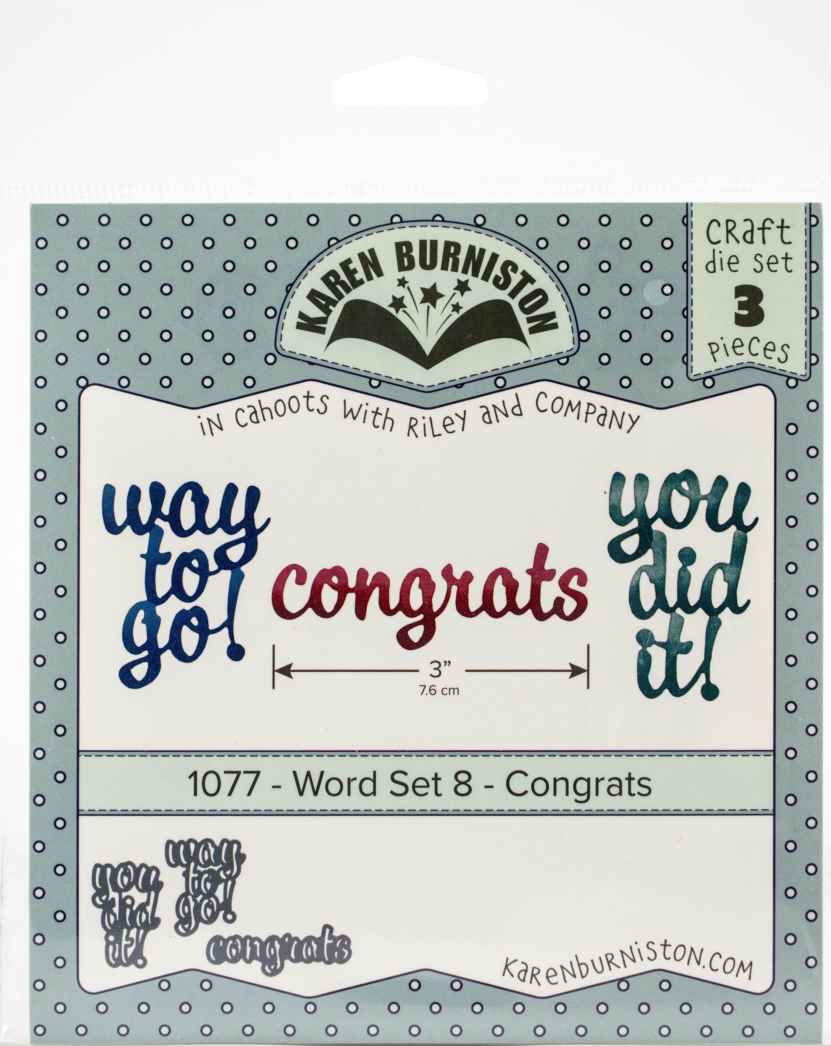 KB Word Set Congrats Dies