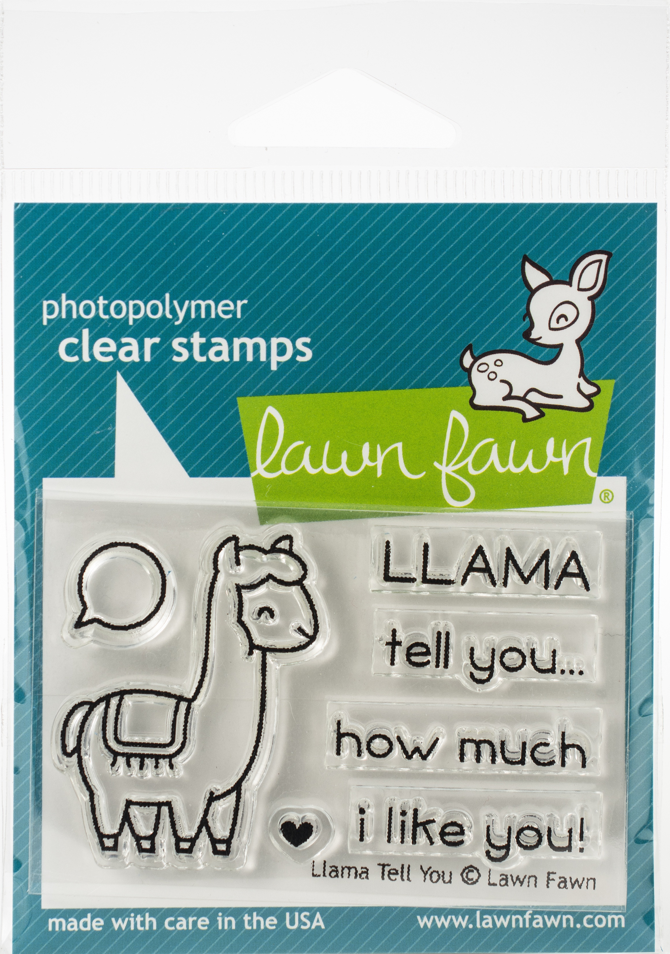Lawn Fawn Clear Stamps 3X2-Llama Tell You