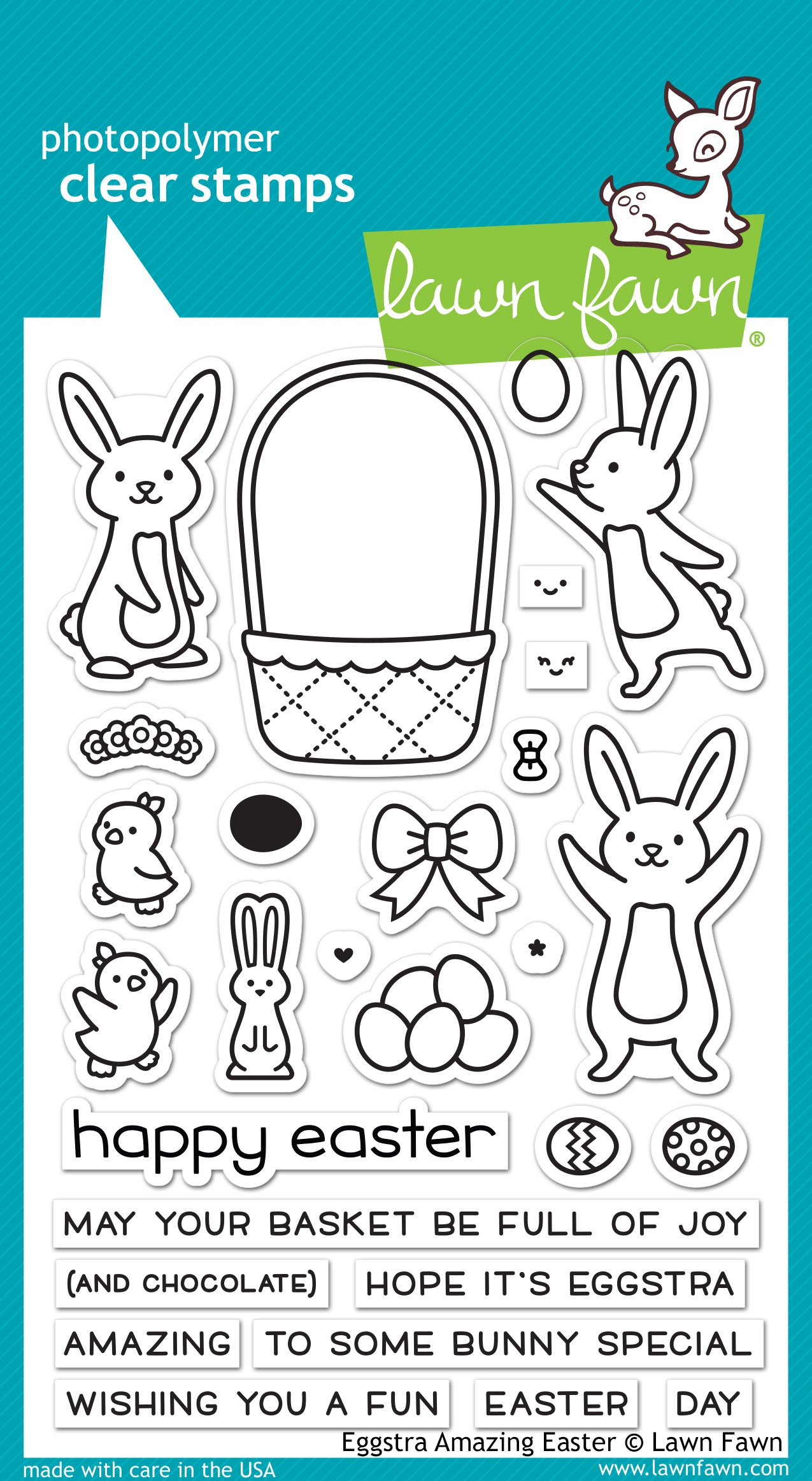Lawn Fawn Clear Stamps 4X6-Eggstra Amazing Easter
