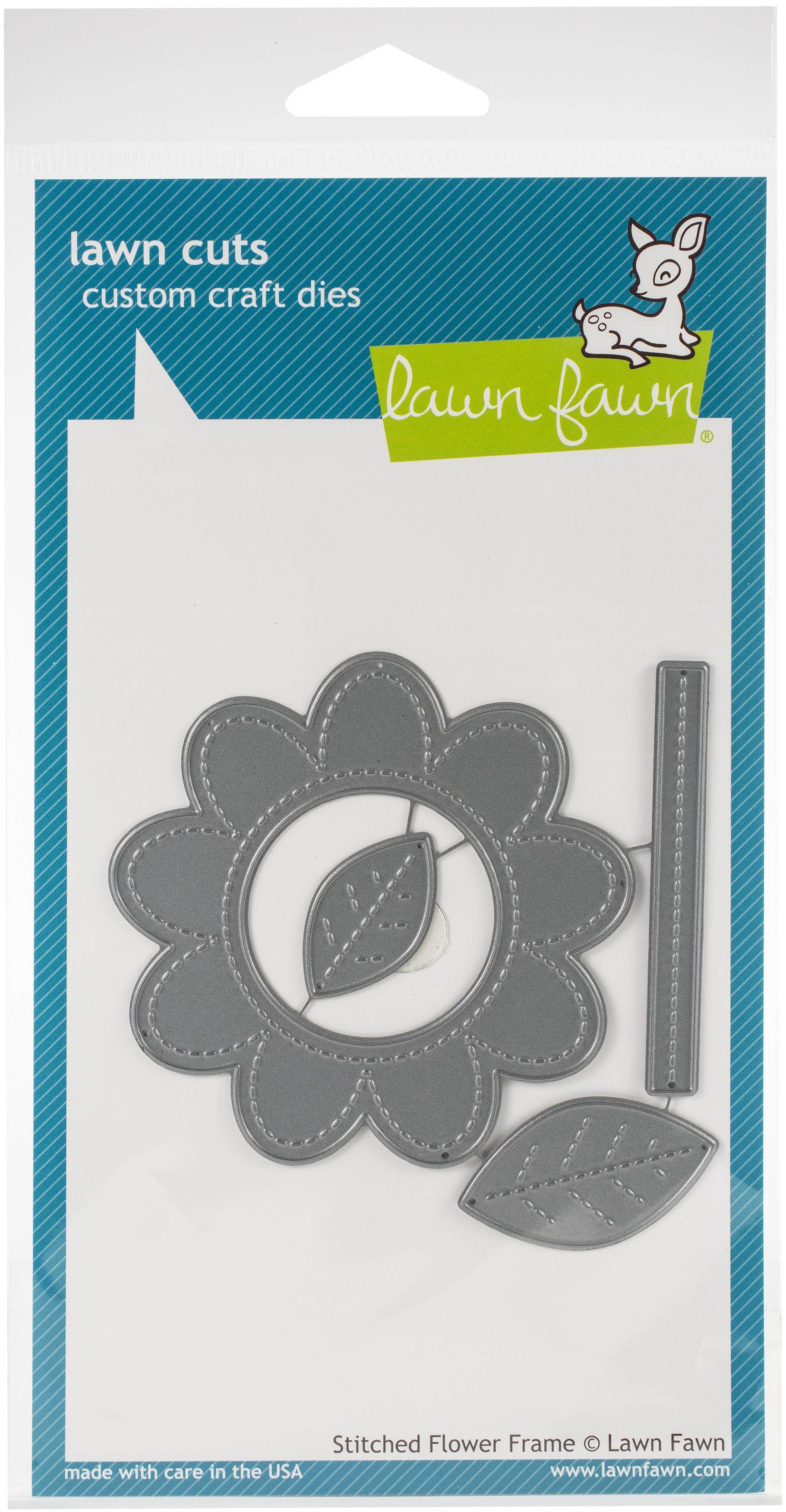 Lawn Cuts Custom Craft Die-Stitched Flower Frame