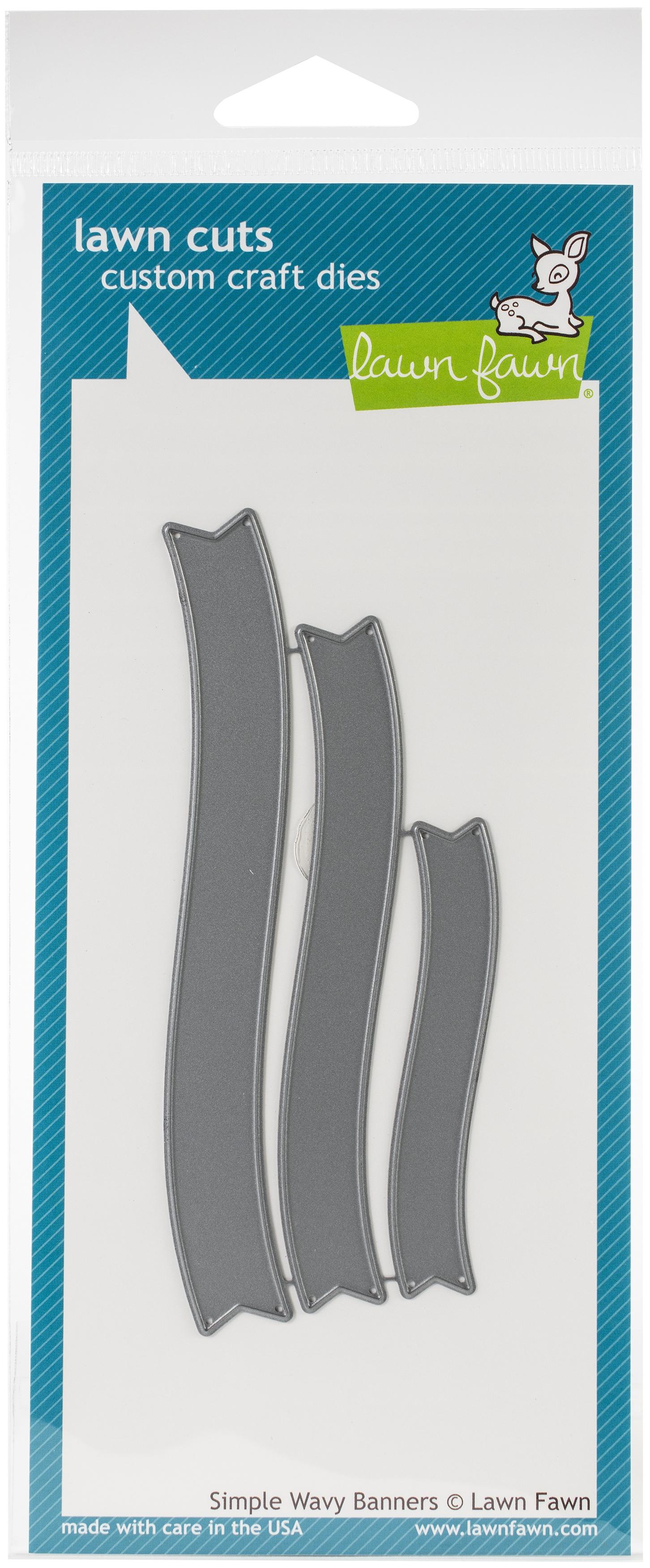 Lawn Cuts Custom Craft Die-Simple Wavy Banners