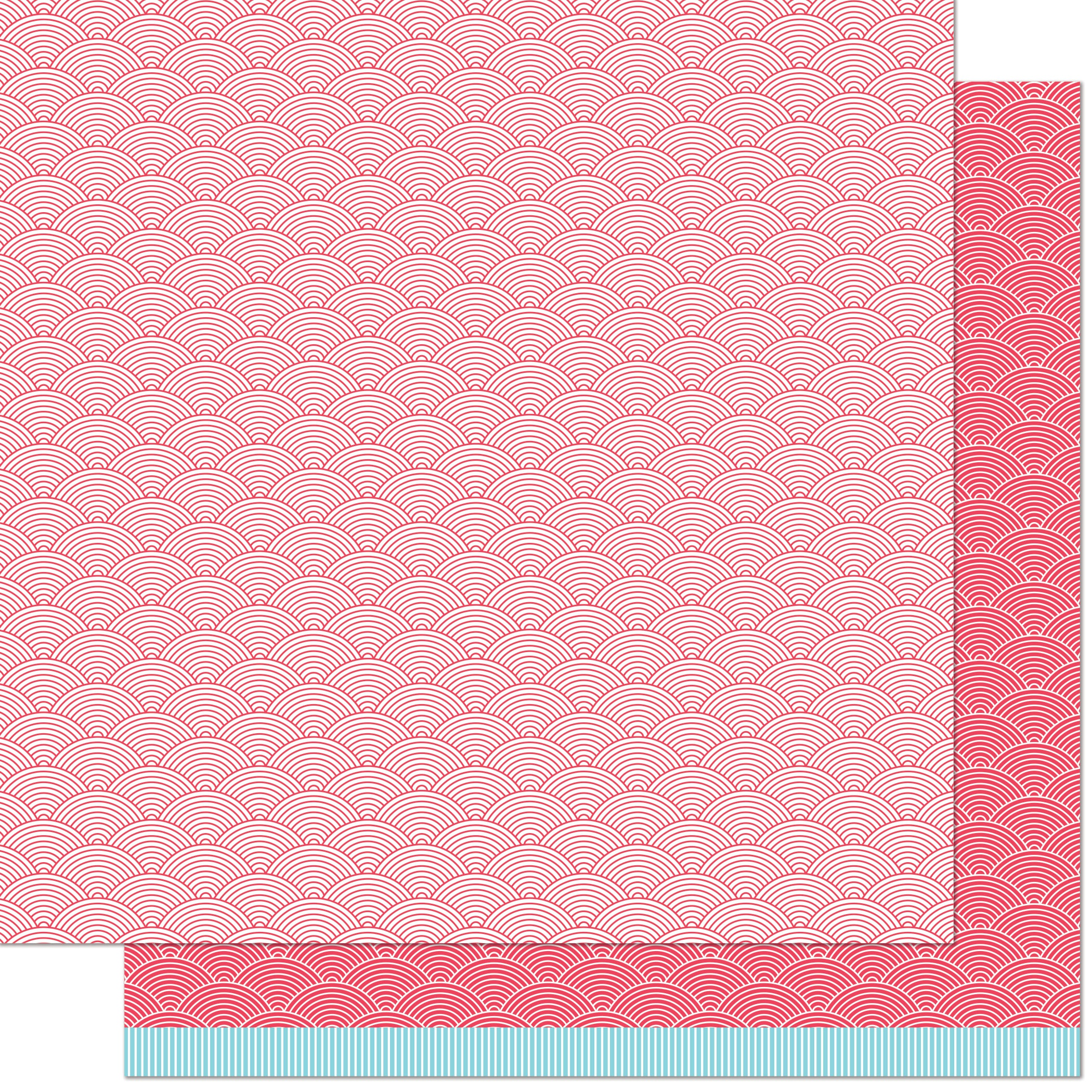 Really Rainbow Scallops Double-Sided Cardstock 12X12-Phoenix Feather