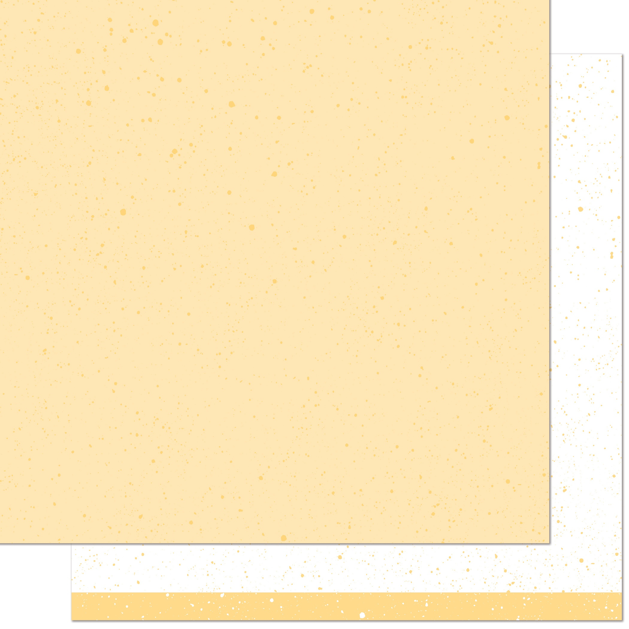 Spiffy Speckles Double-Sided Cardstock 12X12-Ripe Banana