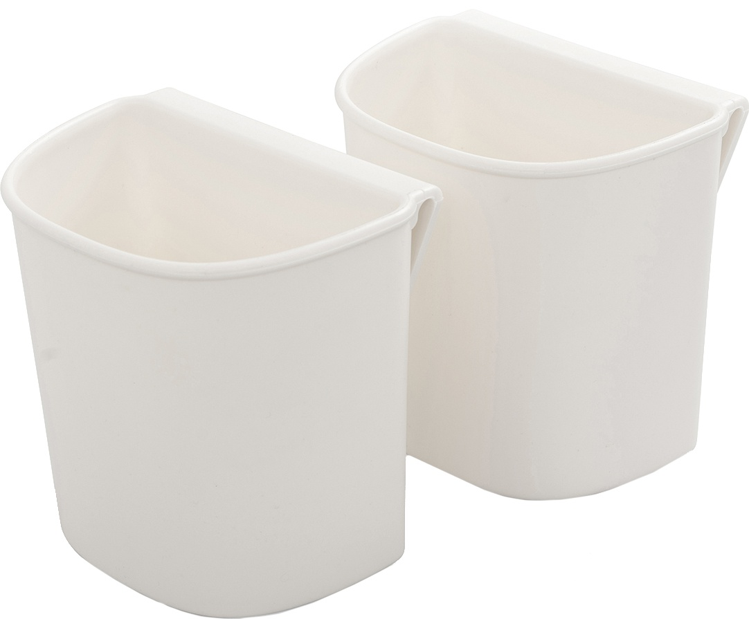 We R A La Cart Small Hanging Cups 2/Pkg-White