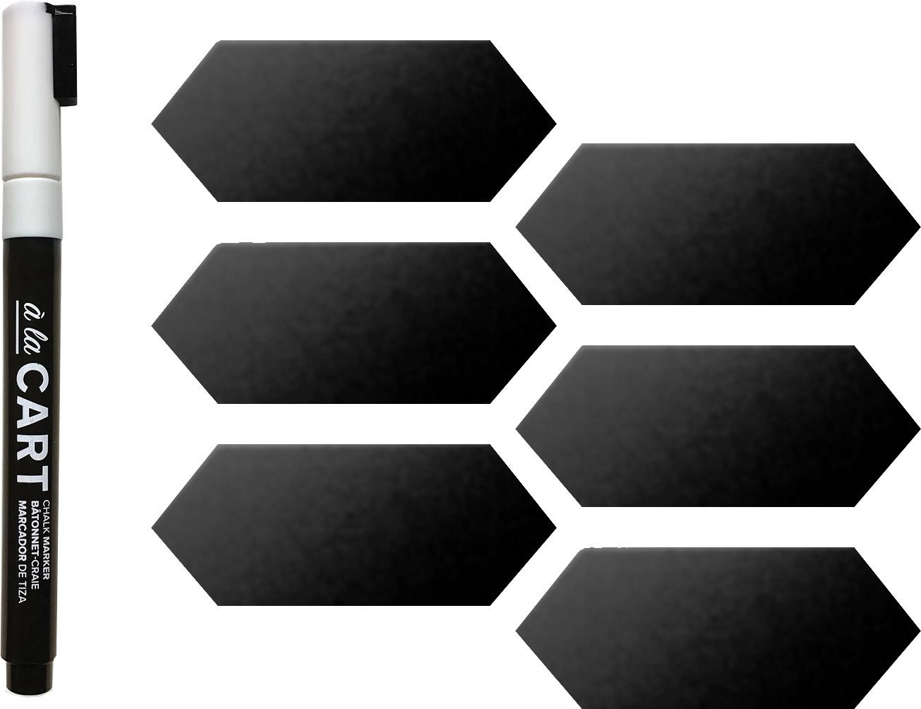 We R A La Cart Magnetized Chalkboard Labels 8/Pkg-