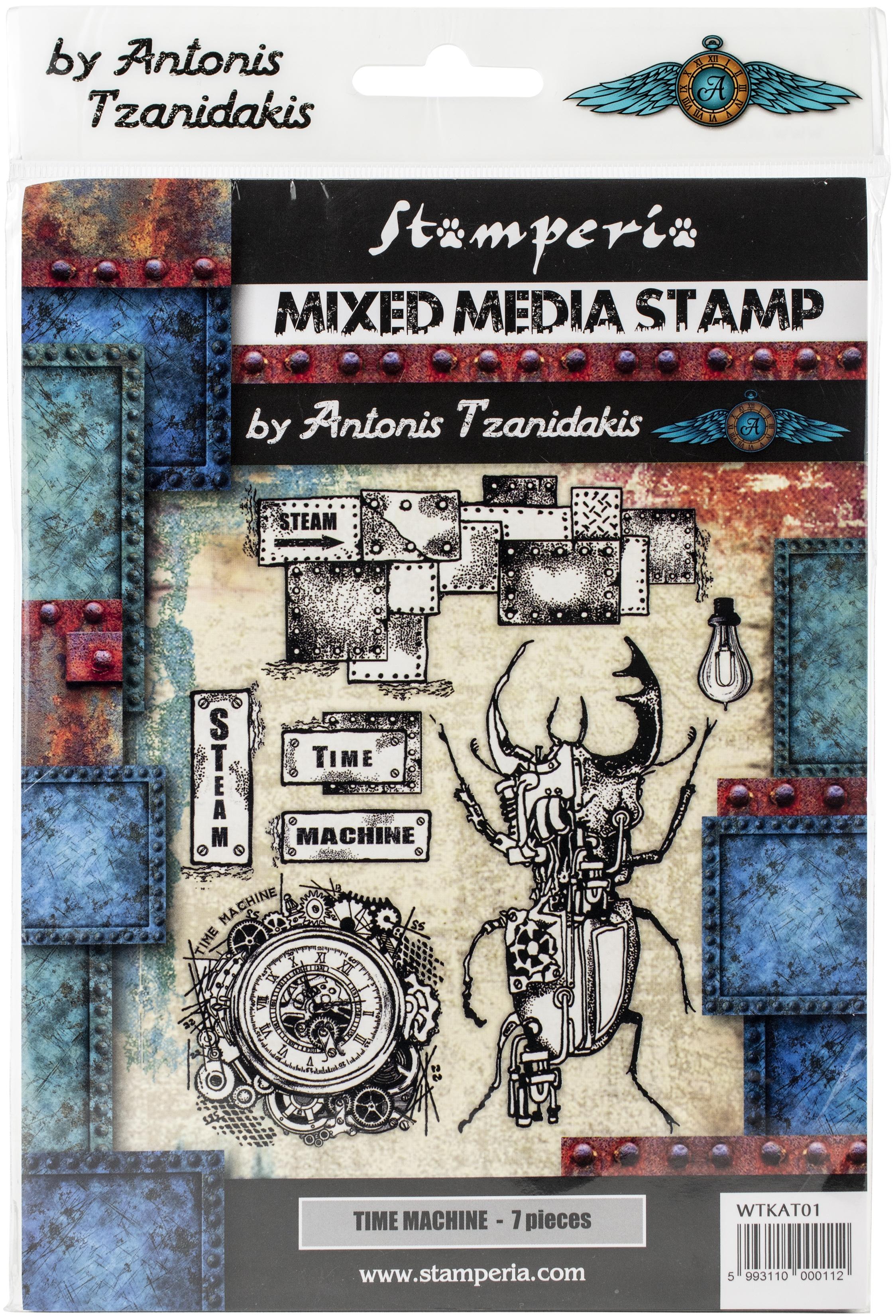 Stamperia Cling Stamp 5.90X7.87-Time Machine