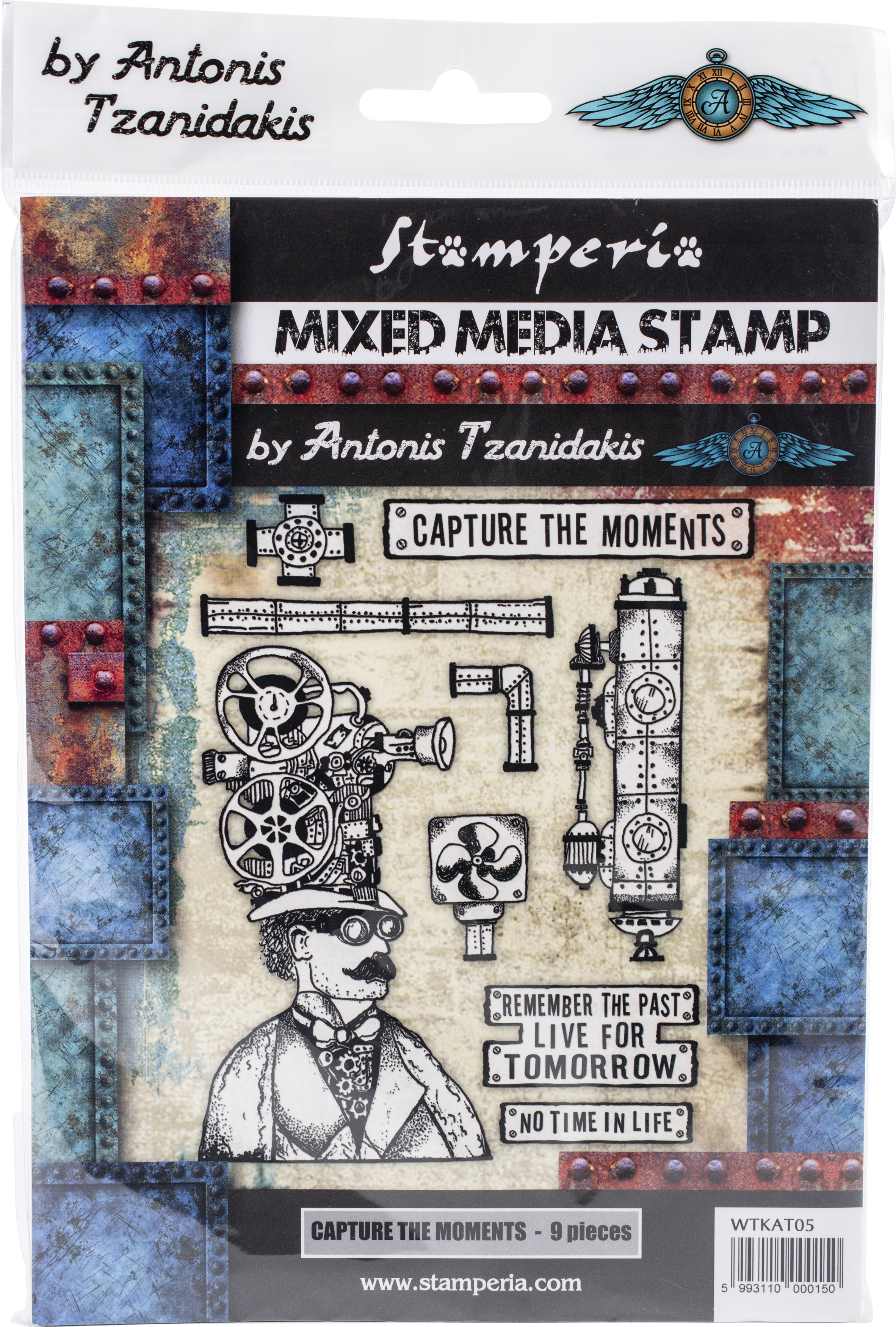 Stamperia Cling Stamp 5.90X7.87-Capture The Moment
