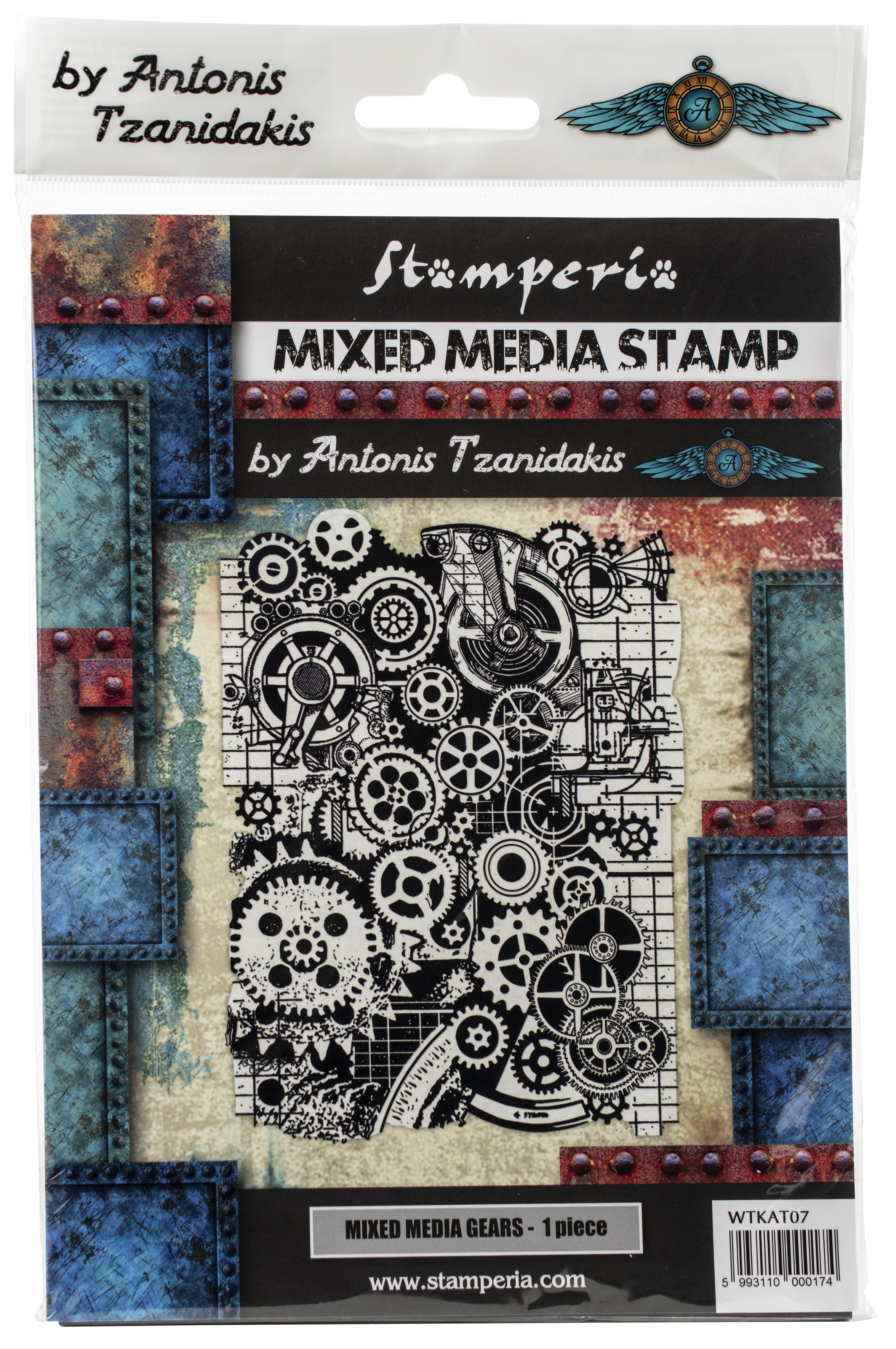 Stamperia Cling Stamp 5.90X7.87-Mixed Media Gears