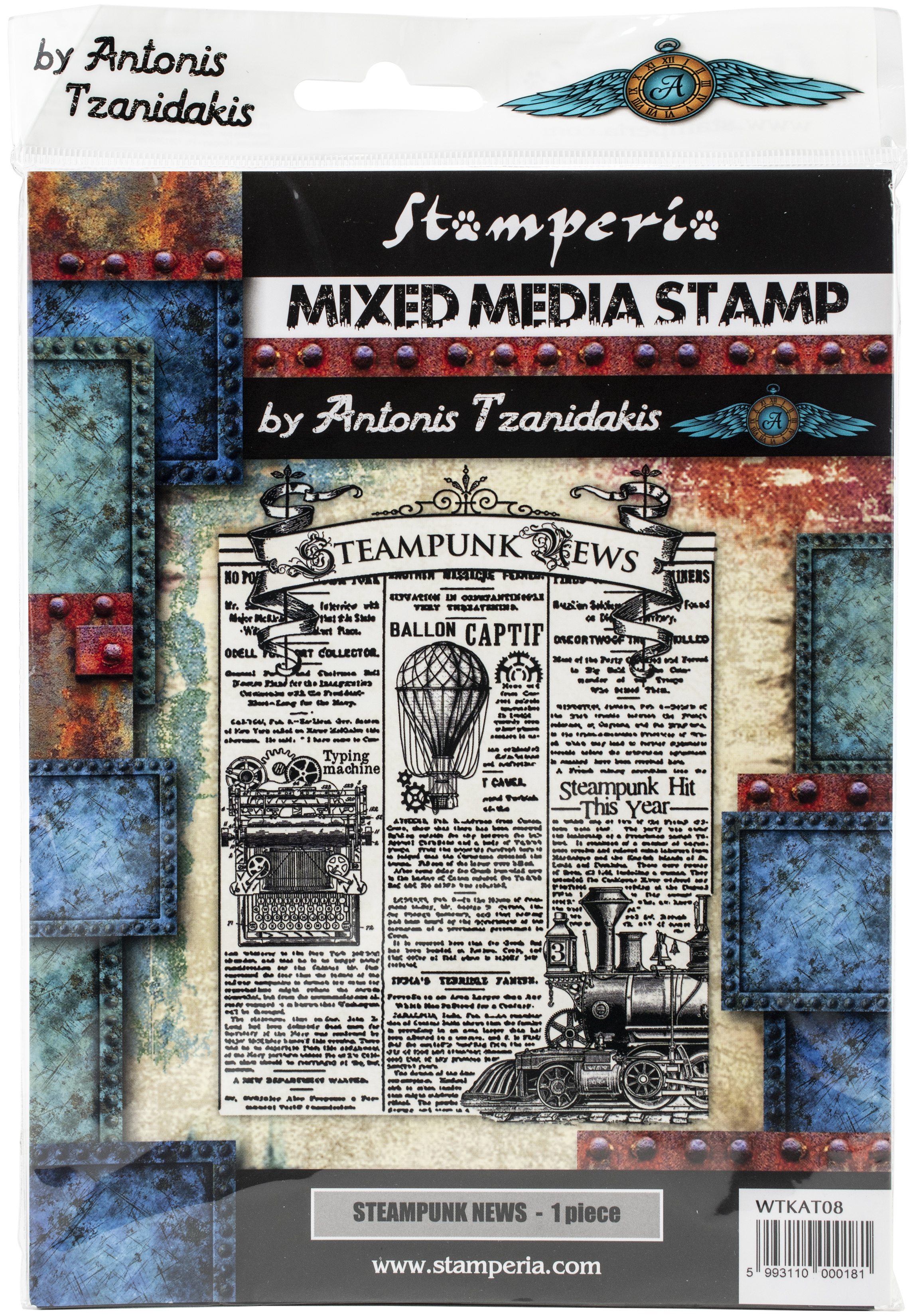 Stamperia Cling Stamp 5.90X7.87-Steampunk News