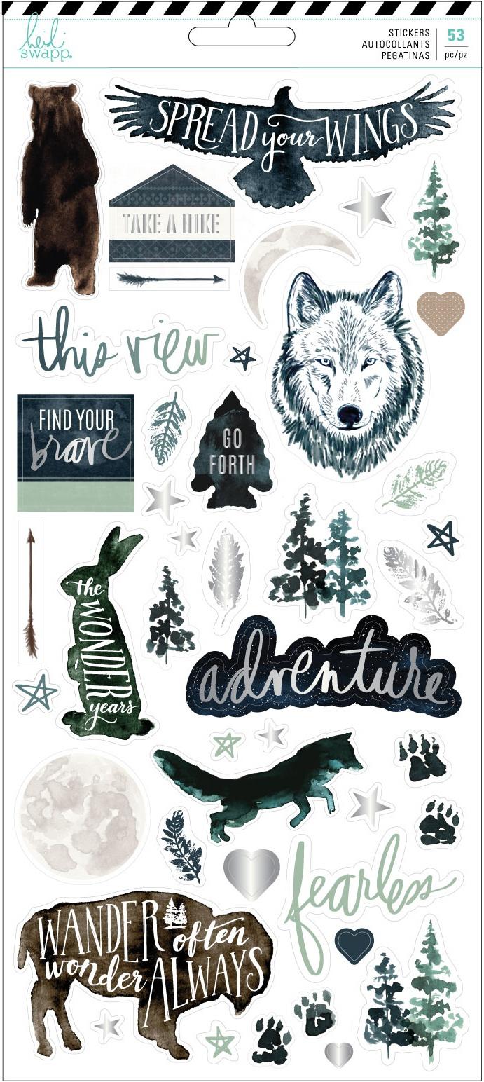 Heidi Swapp Wolf Pack Cardstock Stickers 53/Pkg-