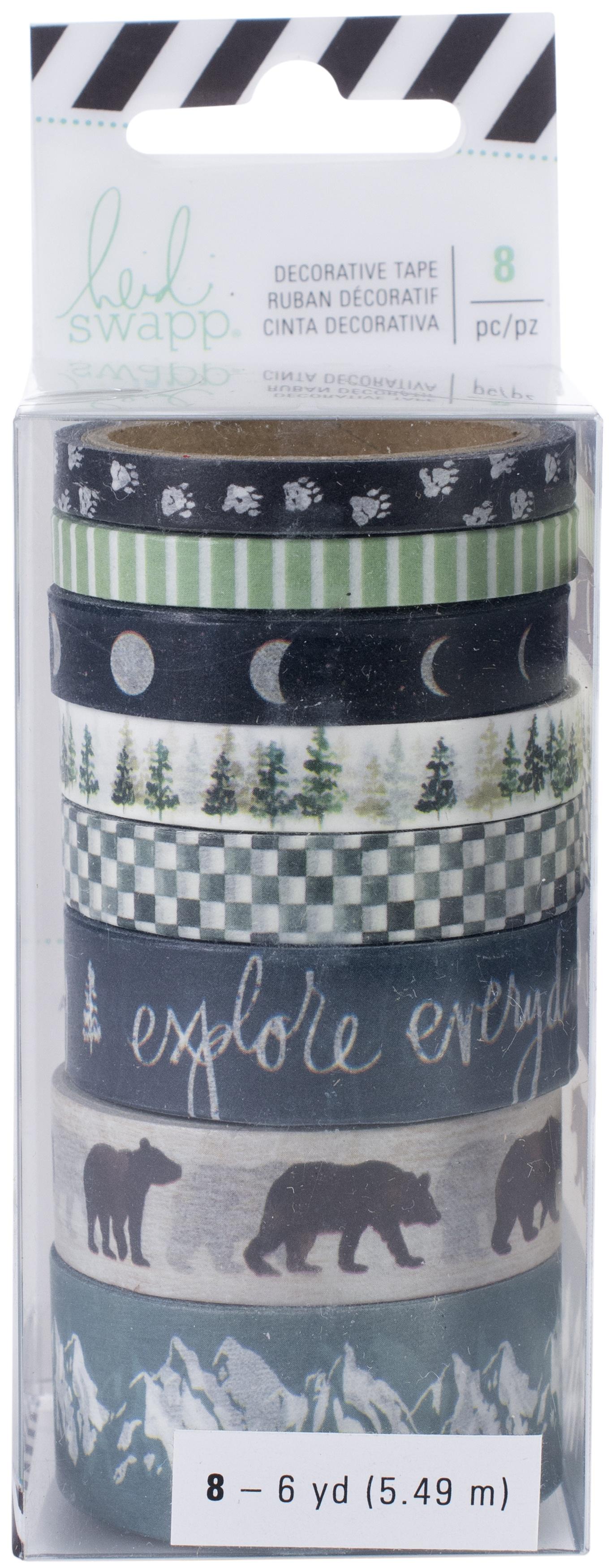 Heidi Swapp Wolf Pack Washi Tape Rolls 8/Pkg-6 Yards Each