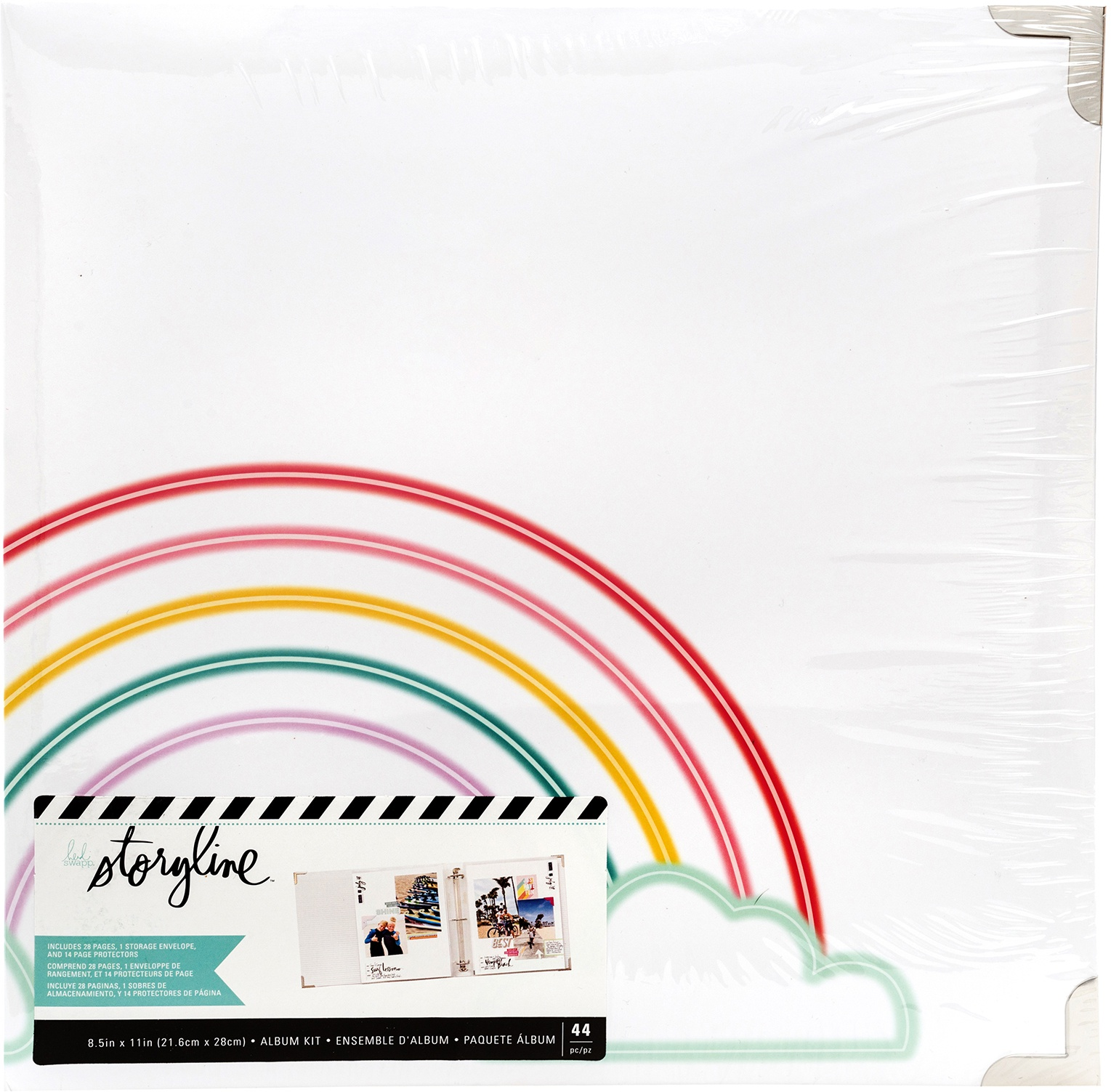 Heidi Swapp Storyline 3 D-Ring Album 8.5X11-Rainbow