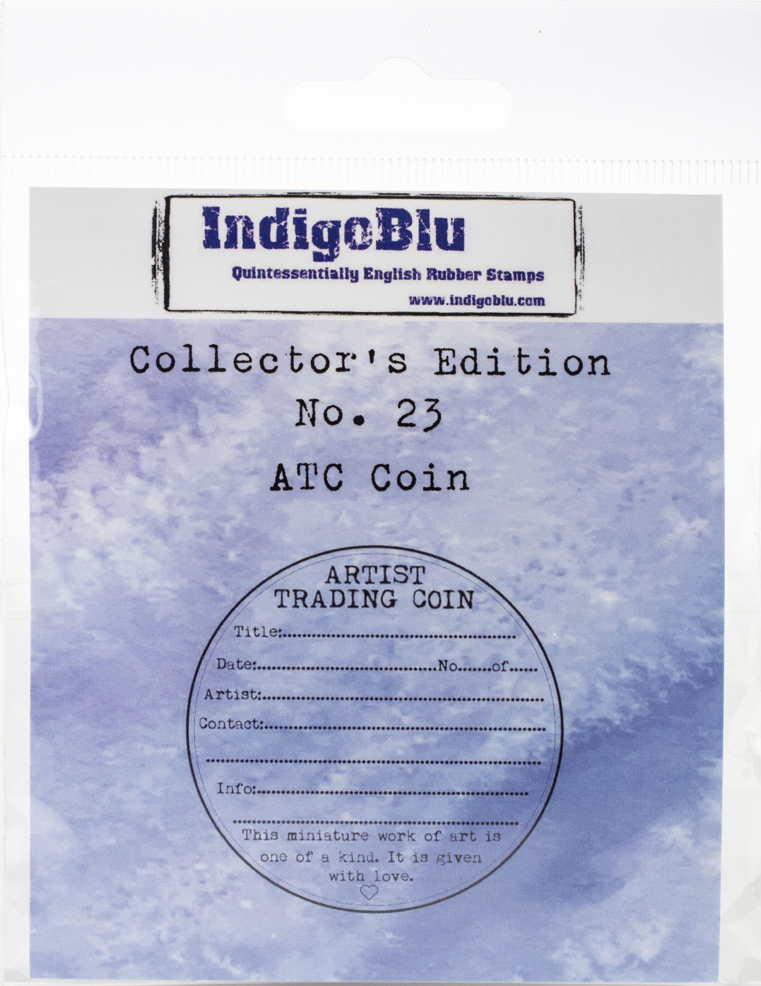 IndigoBlu Collectors Edition Cling Mounted Stamp 2X2-#23 ATC Coin