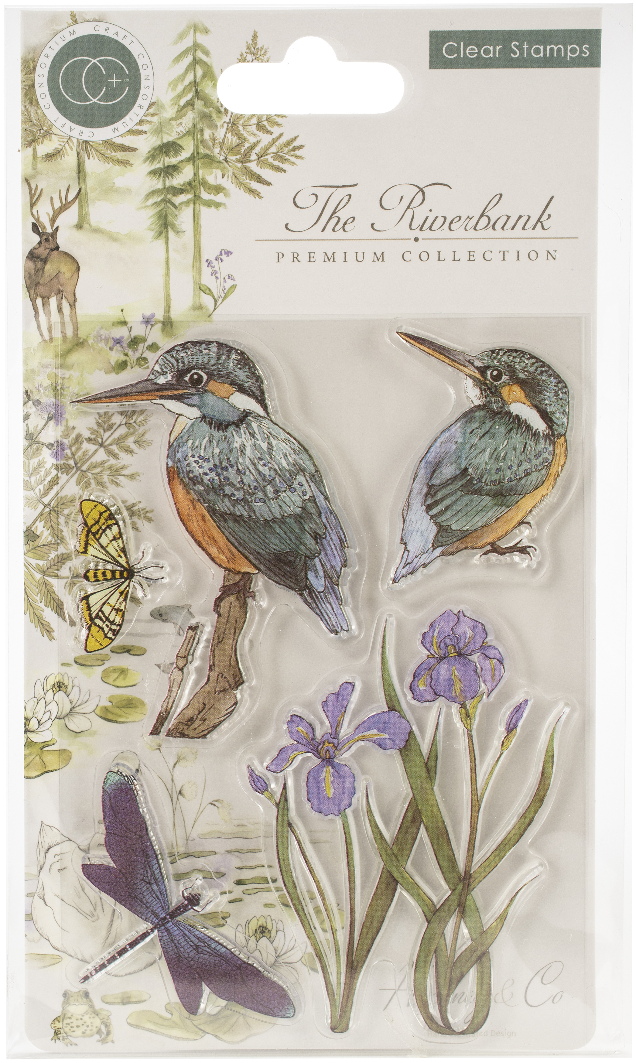 Craft Consortium A5 Clear Stamps-Kingfisher