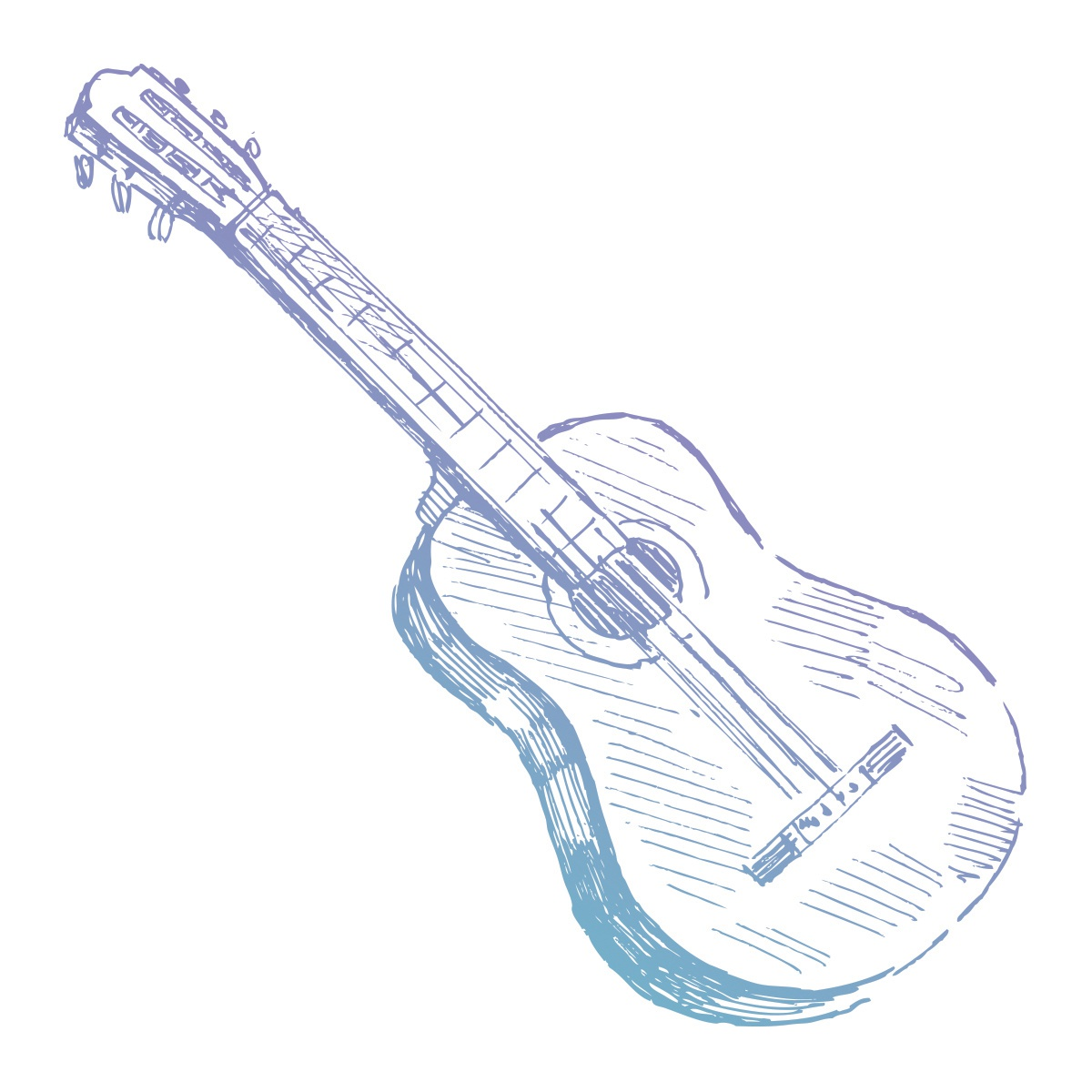 Couture Creations Mini Stamp-Hatched Guitar 1.9X1.9