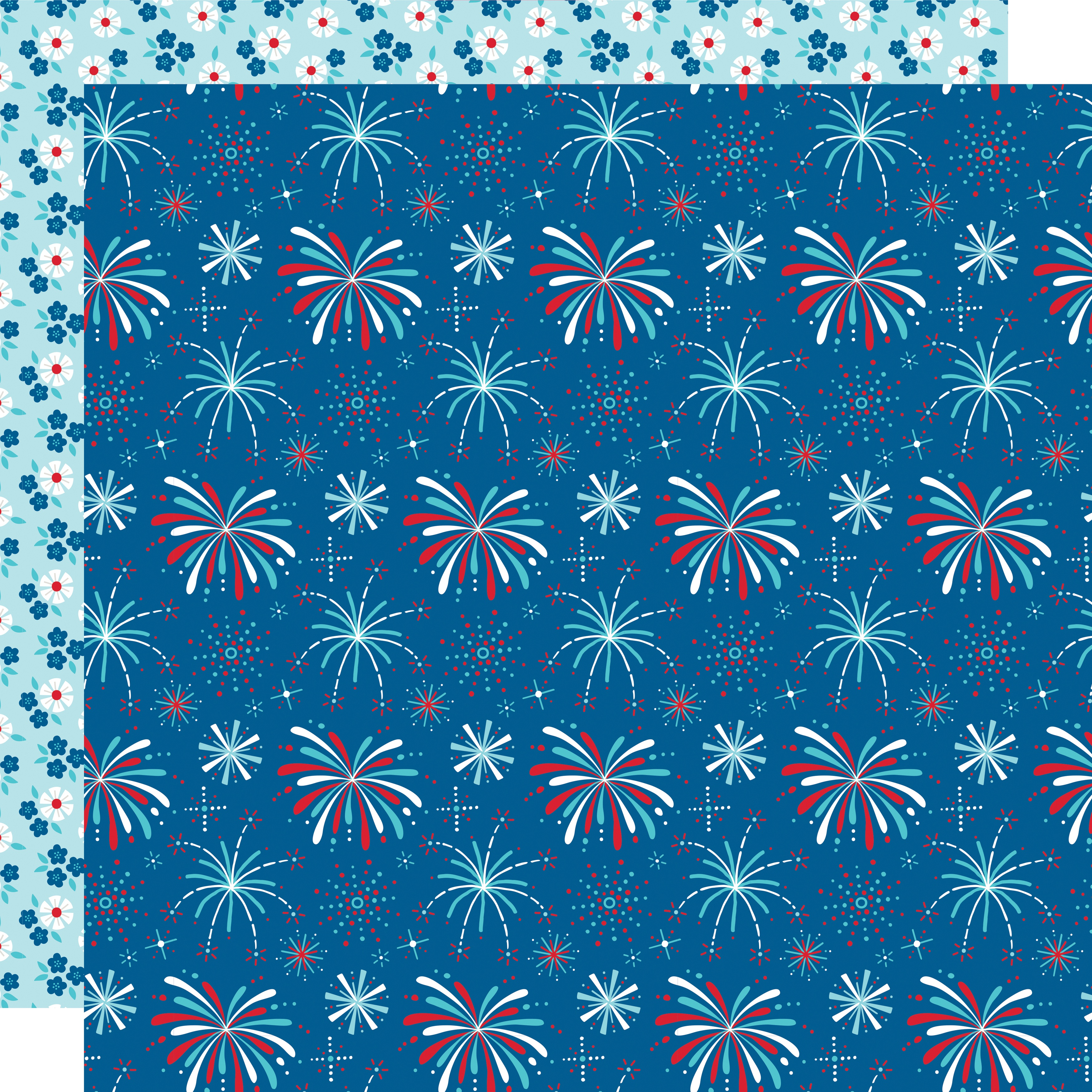 Fireworks & Freedom Double-Sided Cardstock 12X12-Boom Boom