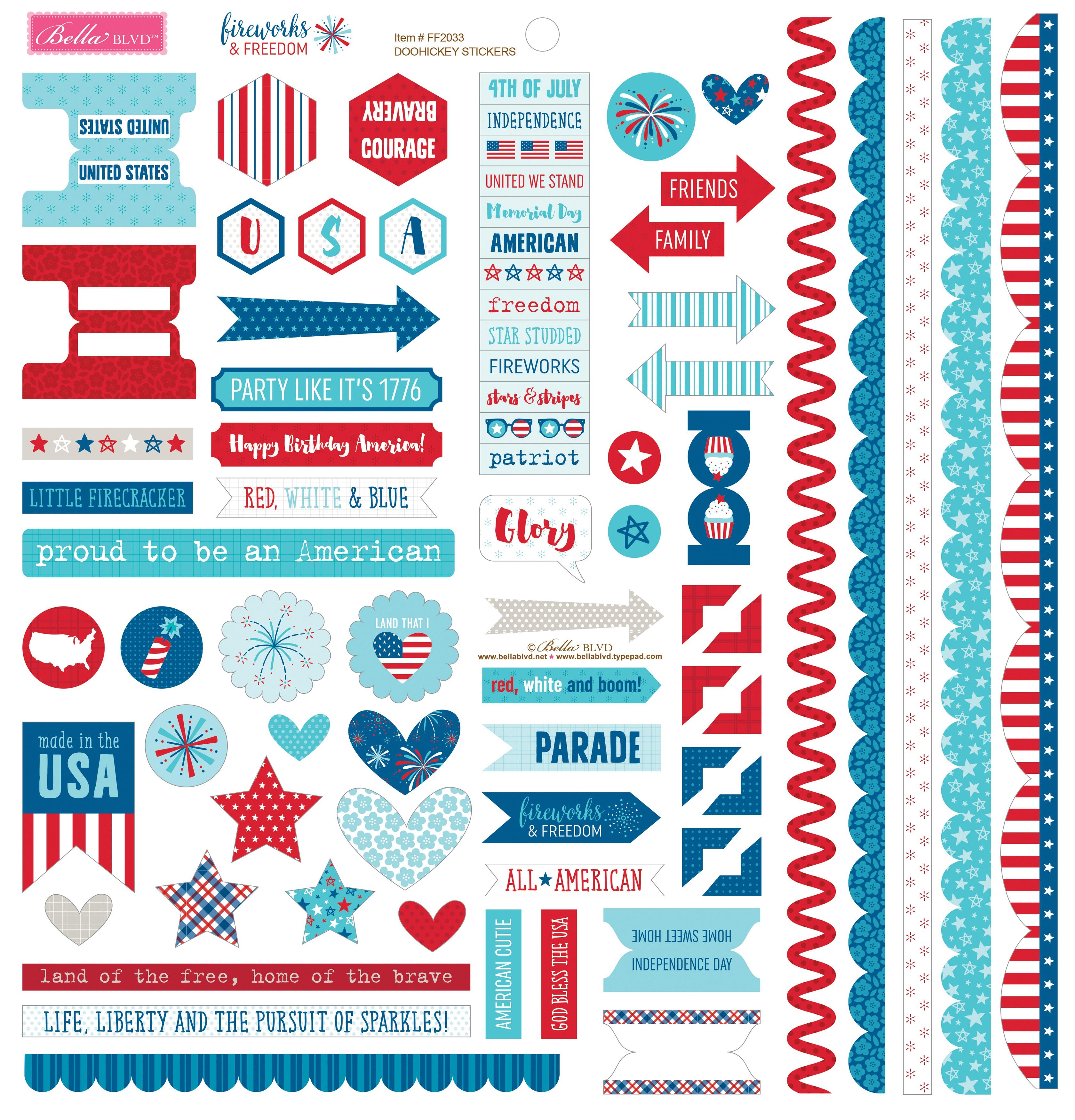 Fireworks & Freedom Stickers
